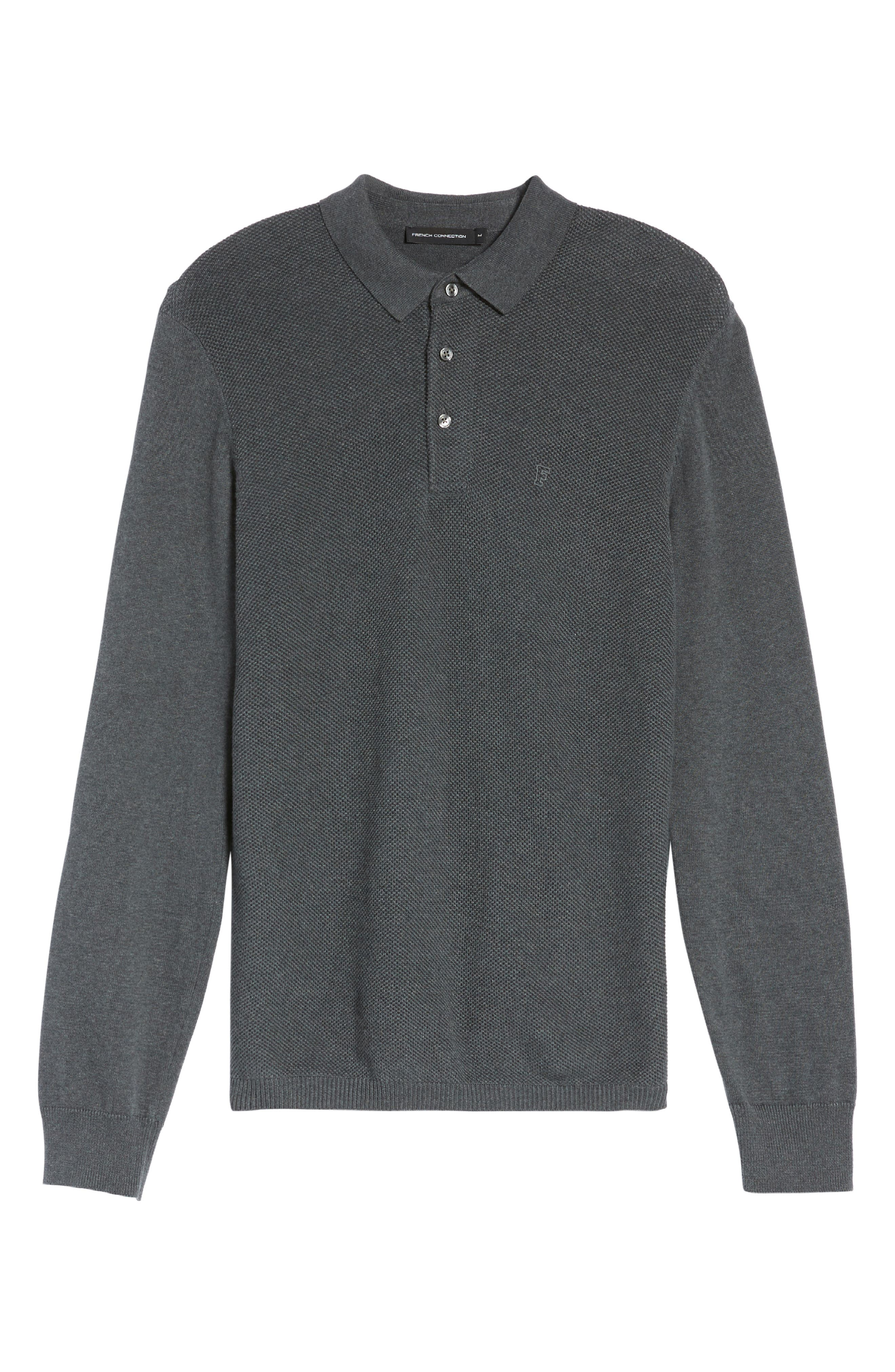 Alternate Image 6  - French Connection Textured Long Sleeve Polo