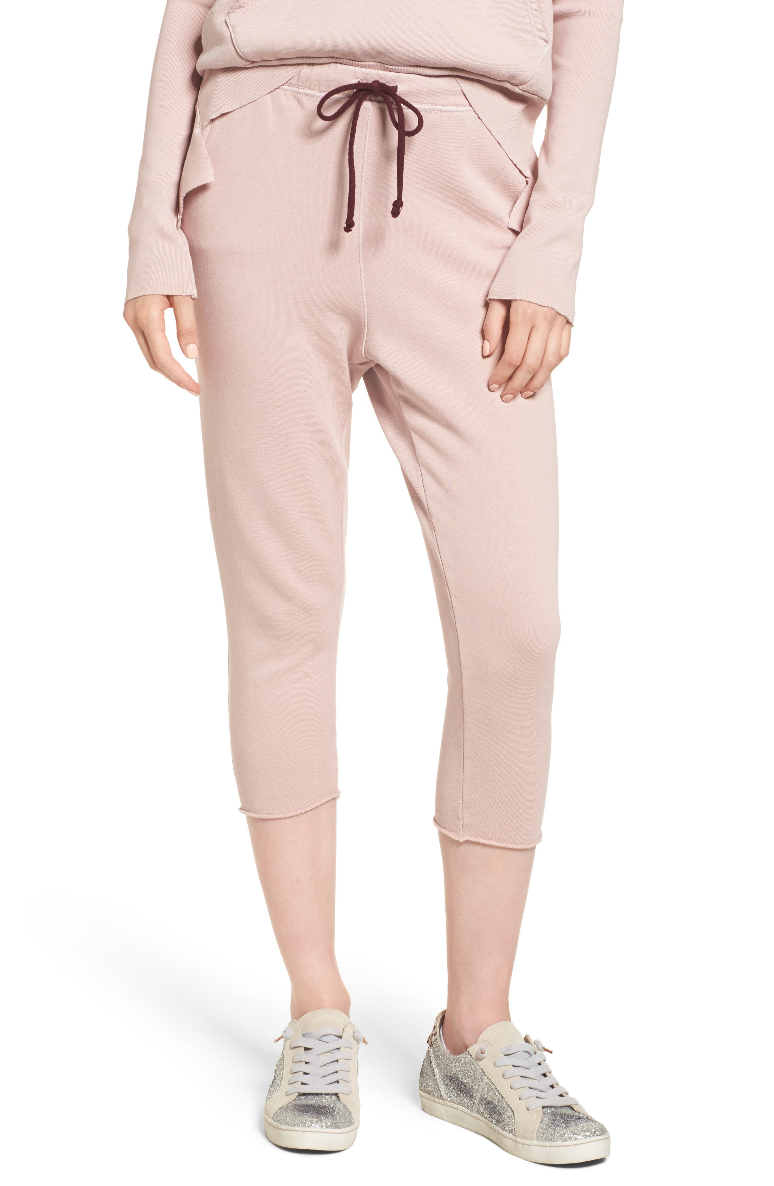 Alternate Image 1 Selected - Frank & Eileen Tee Lab Raw Hem Crop Sweatpants