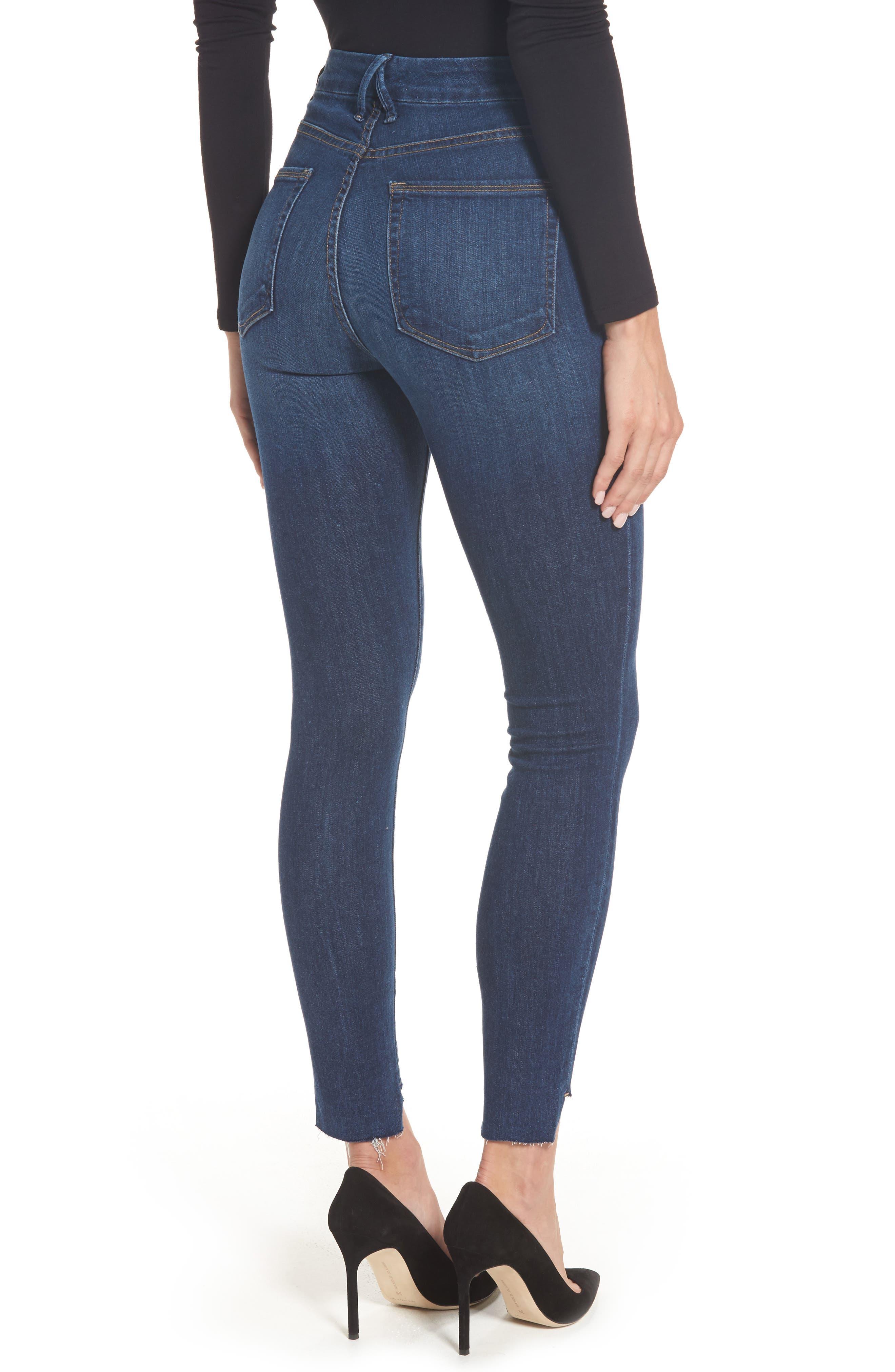 Alternate Image 2  - Good American Good Legs High Waist Skinny Jeans (Blue 046) (Extended Sizes)