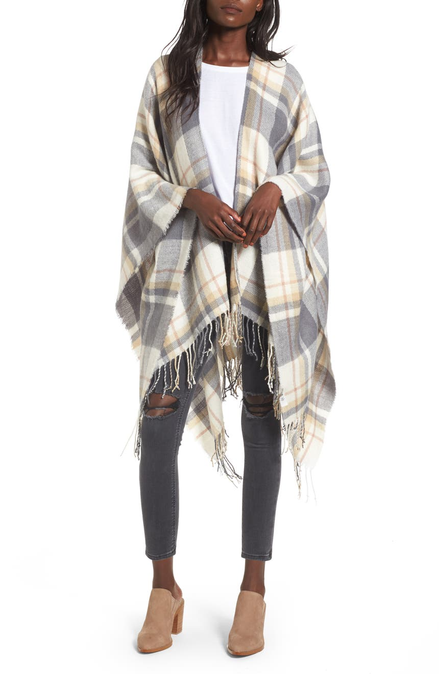 Main Image - BP. Plaid Cape
