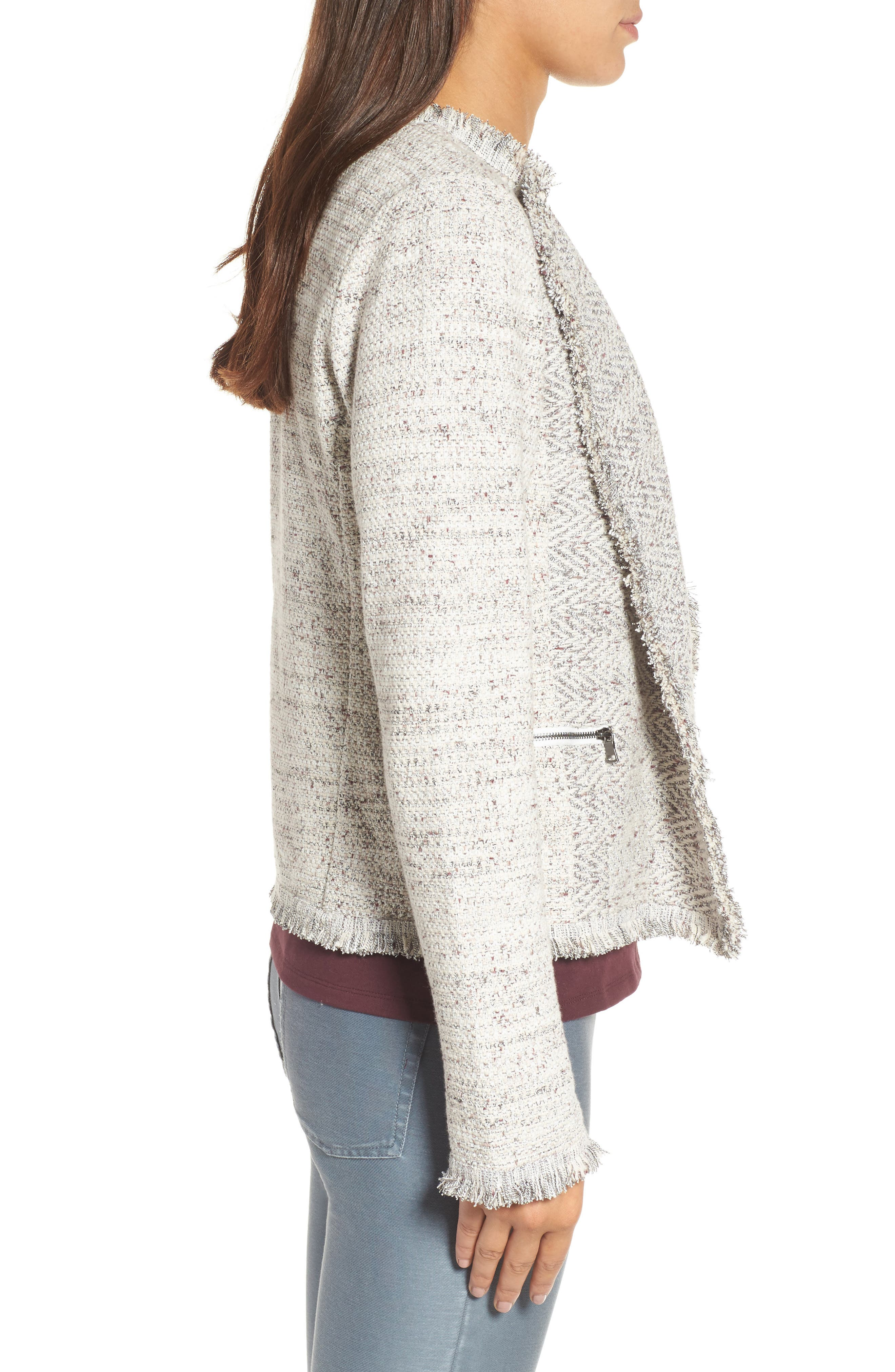 Chilled Tweed Jacket,                             Alternate thumbnail 3, color,                             Multi