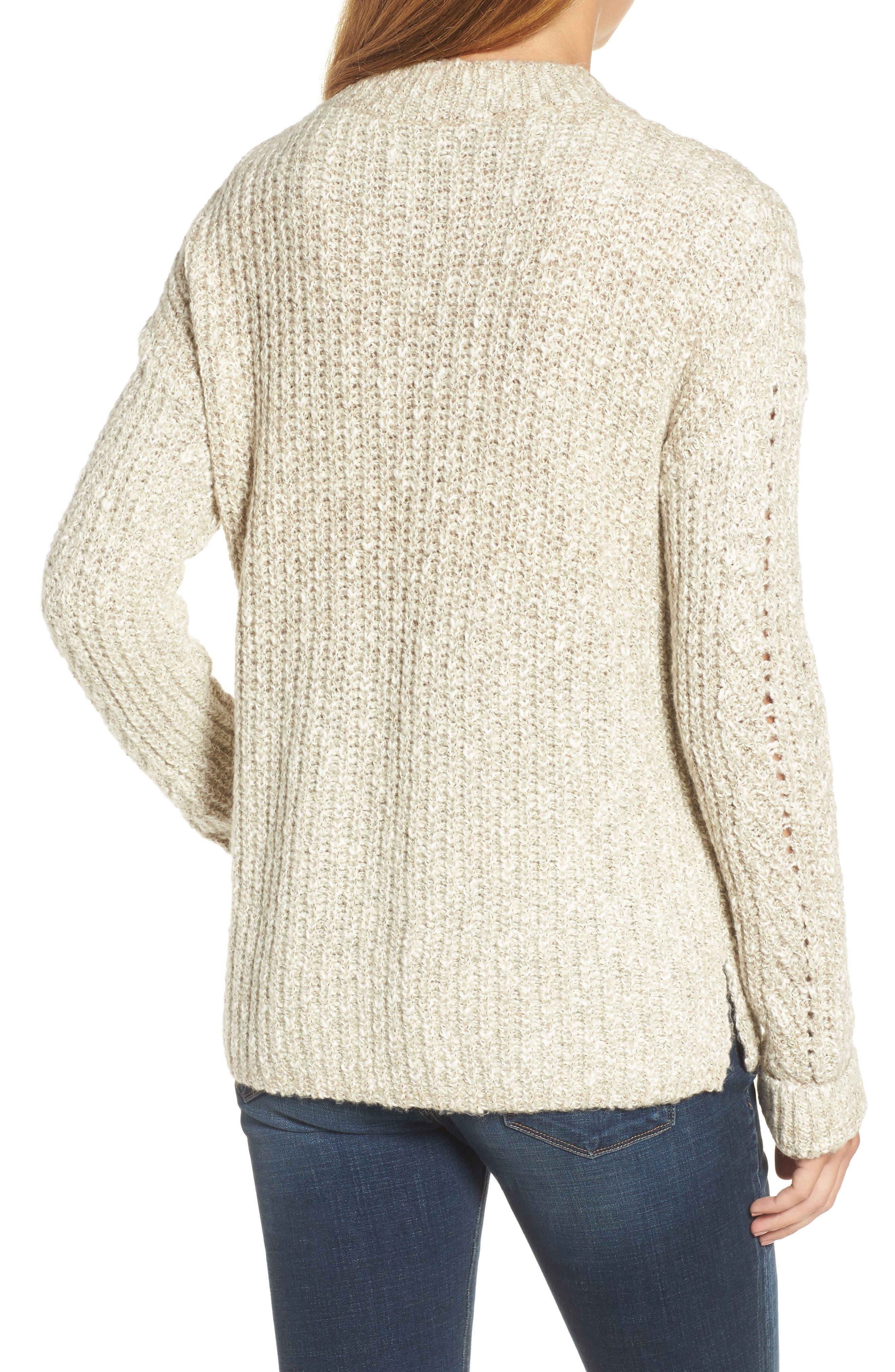 Alternate Image 2  - Lucky Brand Open Stitch Sweater
