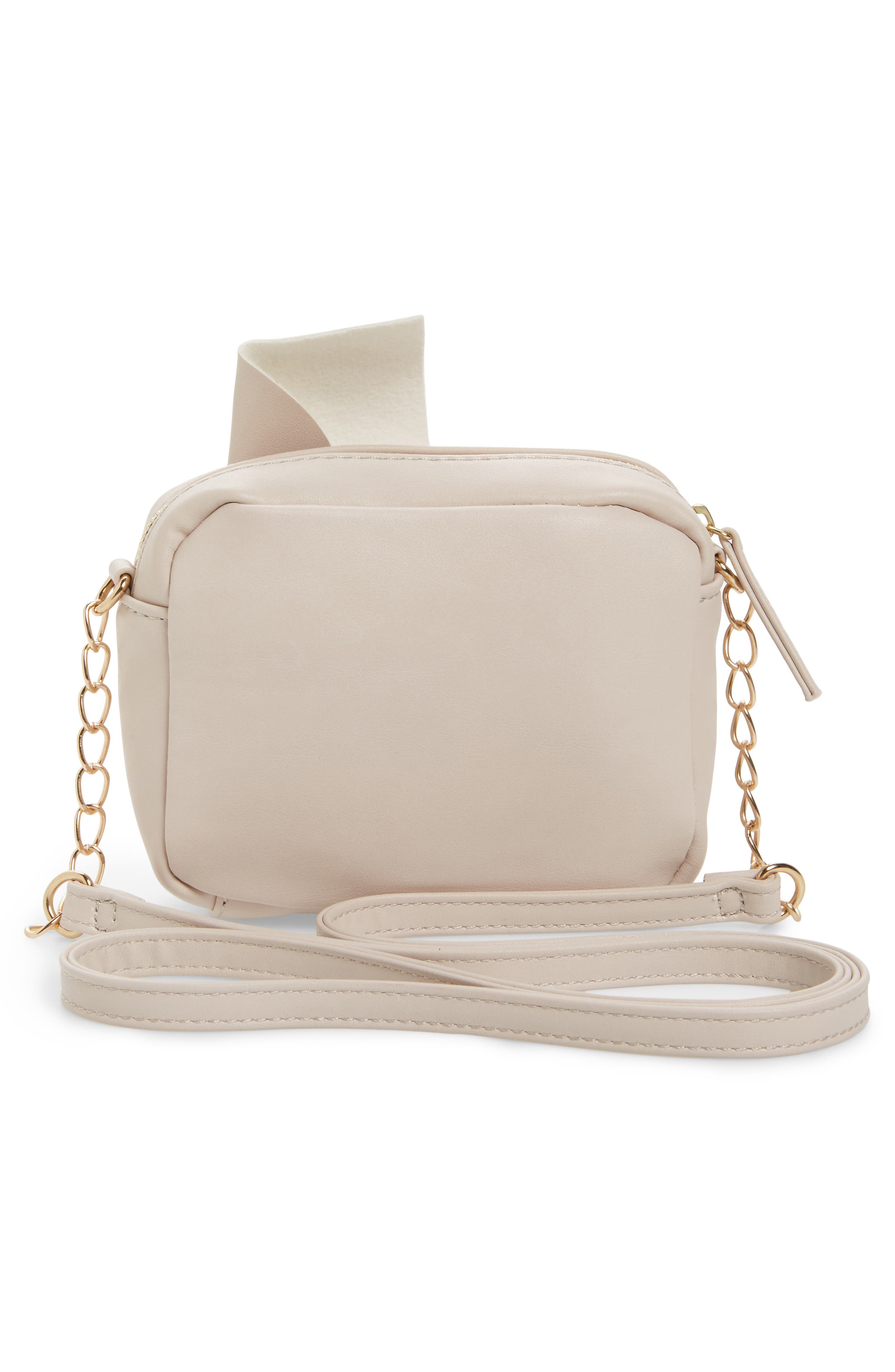 Knotted Bow Faux Leather Crossbody Bag,                             Alternate thumbnail 2, color,                             Blush