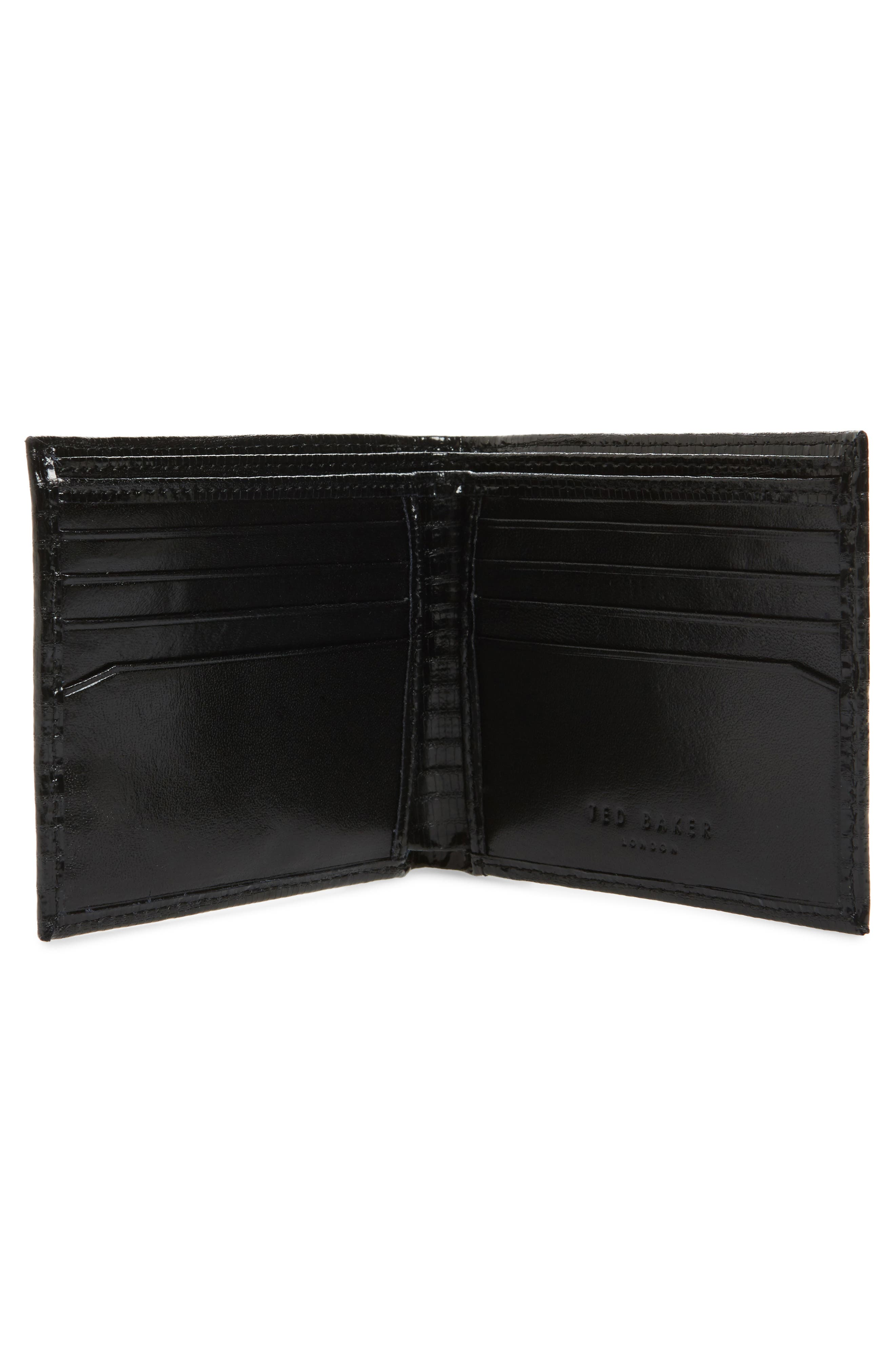 Slayts Leather Wallet,                             Alternate thumbnail 2, color,                             Black