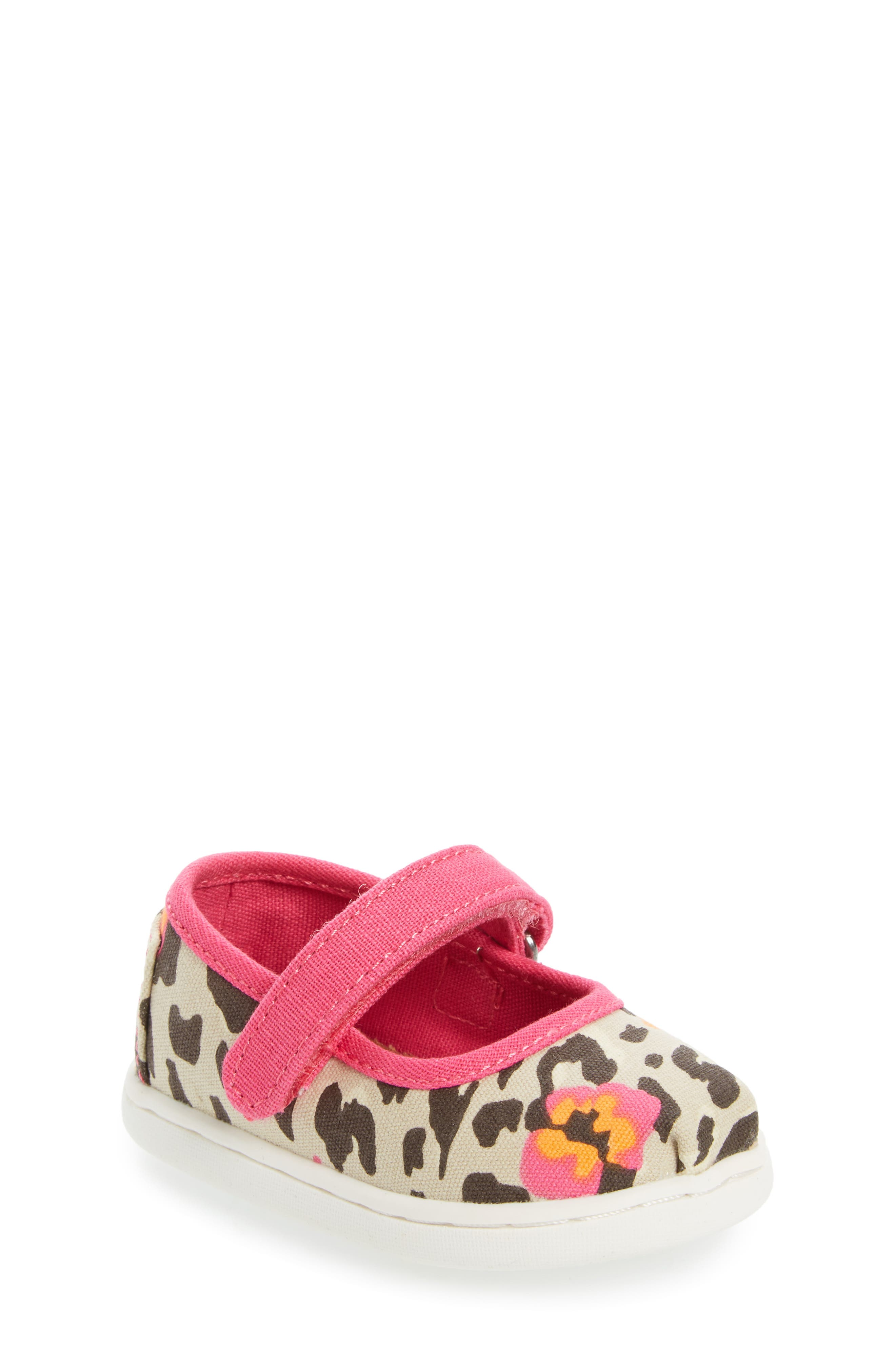Alternate Image 1 Selected - TOMS Tiny Mary Jane Flat (Baby, Walker & Toddler)
