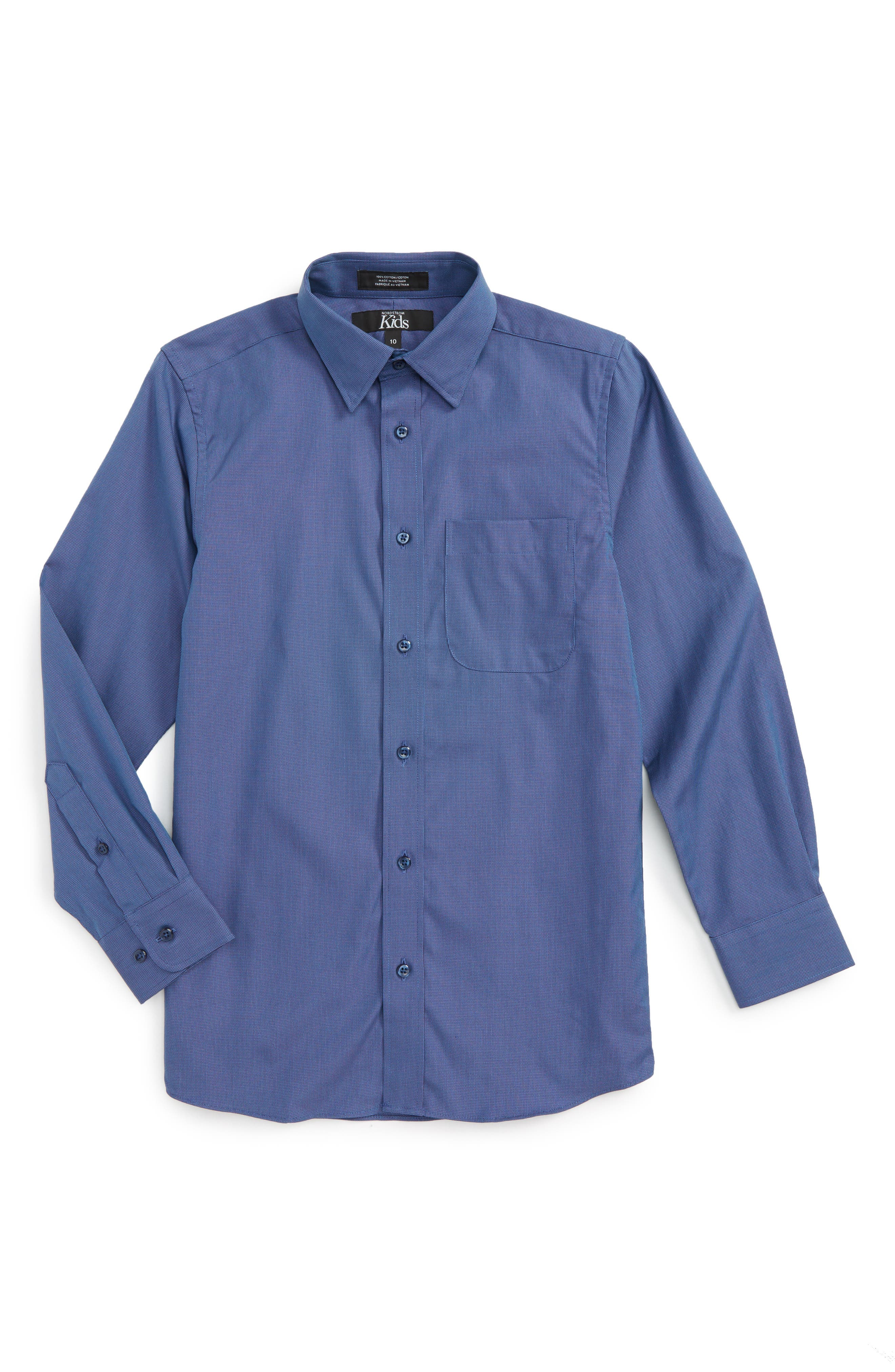 Main Image - Nordstrom Patriot Cotton Poplin Dress Shirt (Big Boys)