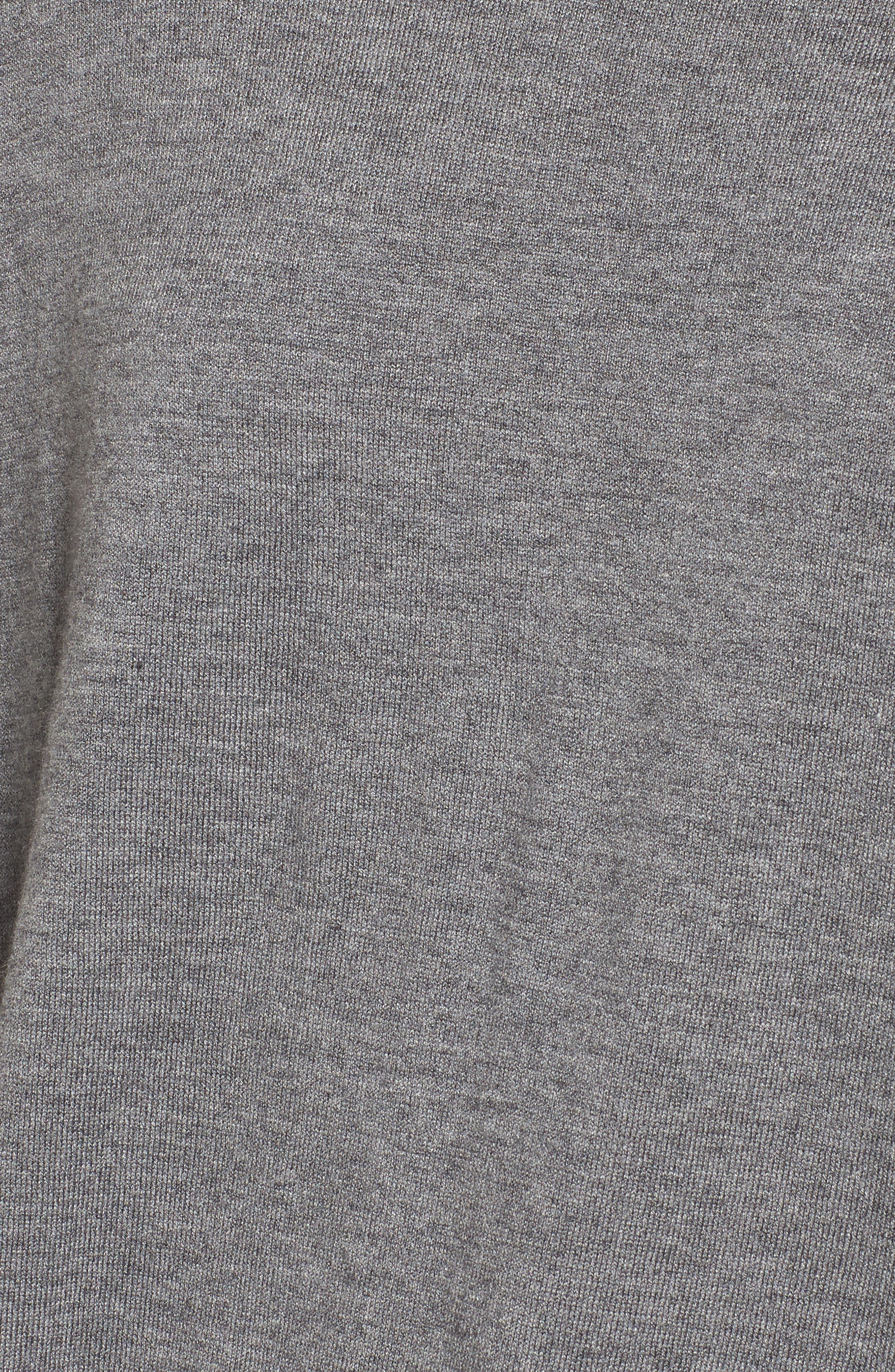 Canarise Cutout Sweater,                             Alternate thumbnail 5, color,                             Heather Cinder