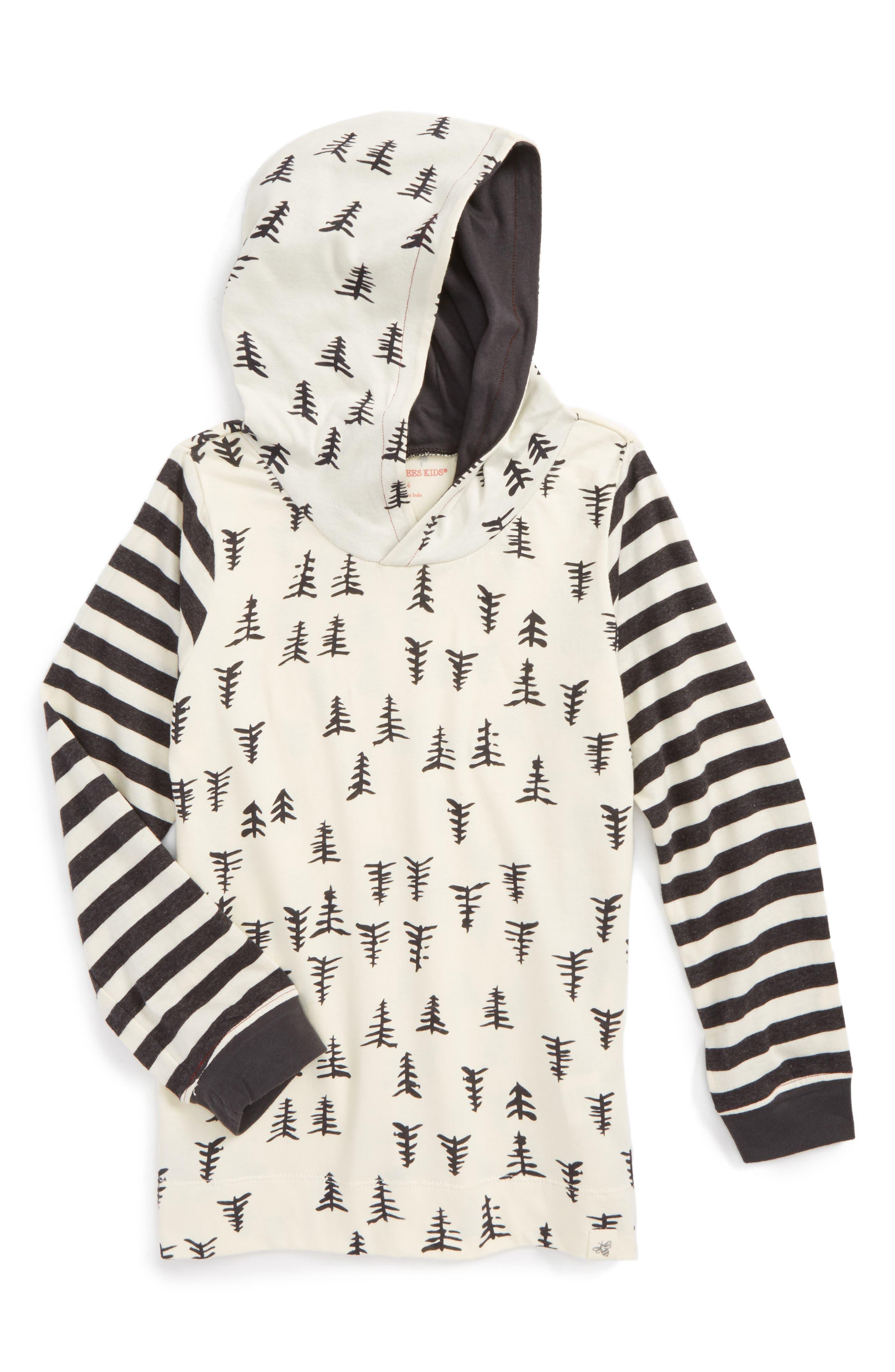 Burt's Bees Baby Trees & Stripes Organic Cotton Hooded T-Shirt (Toddler Boys & Little Boys)