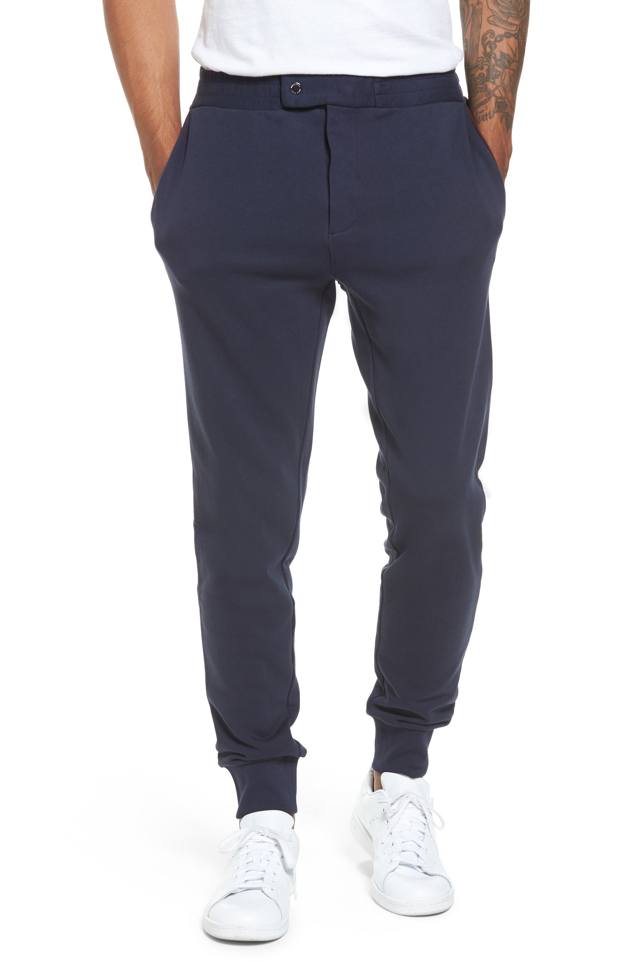 Lamont Snap Tab Sweatpants,                         Main,                         color, Navy