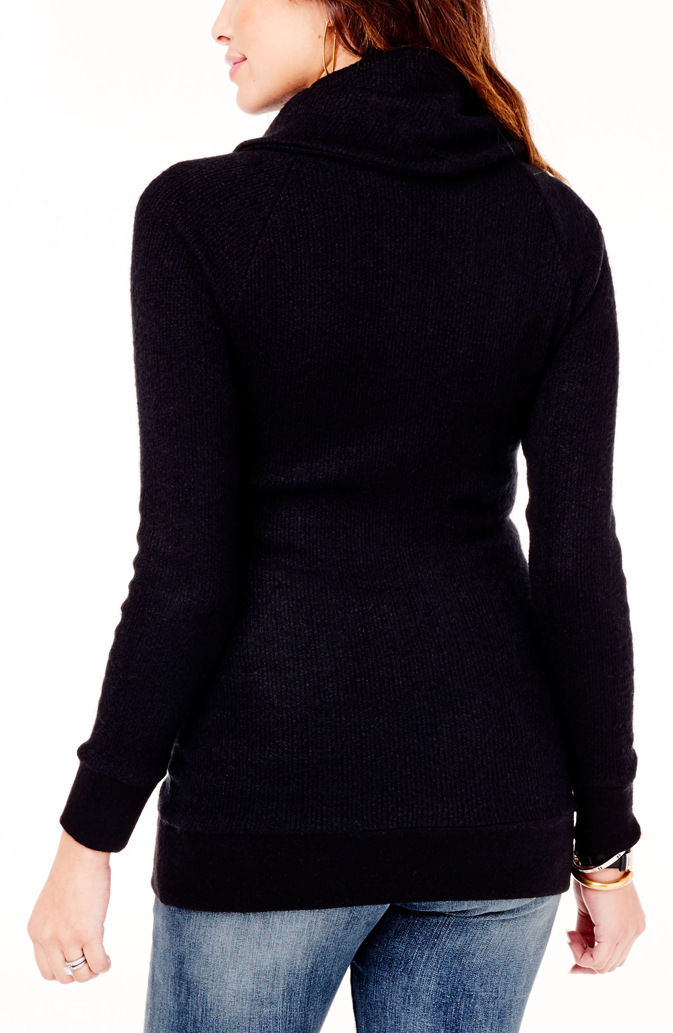Alternate Image 2  - Ingrid & Isabel® Cowl Neck Maternity Sweater