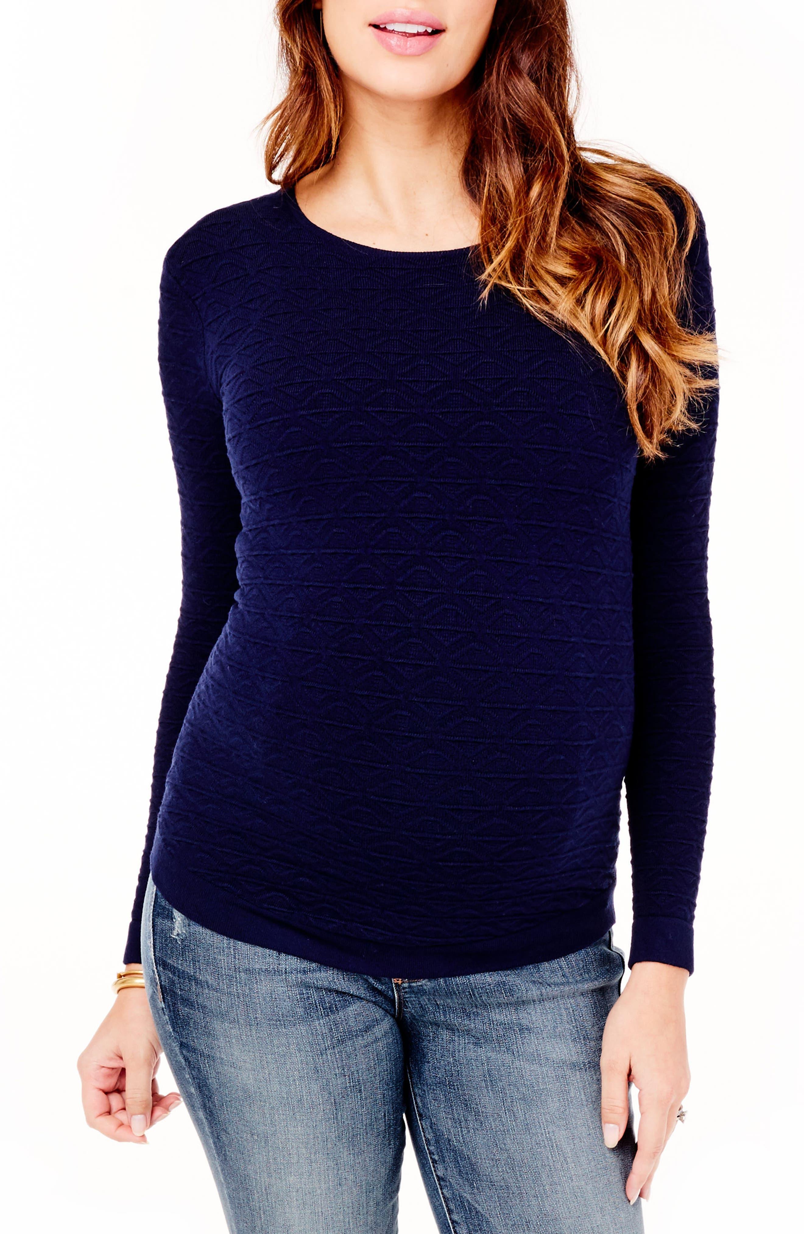 Ingrid & Isabel Textured Knit Maternity Sweater