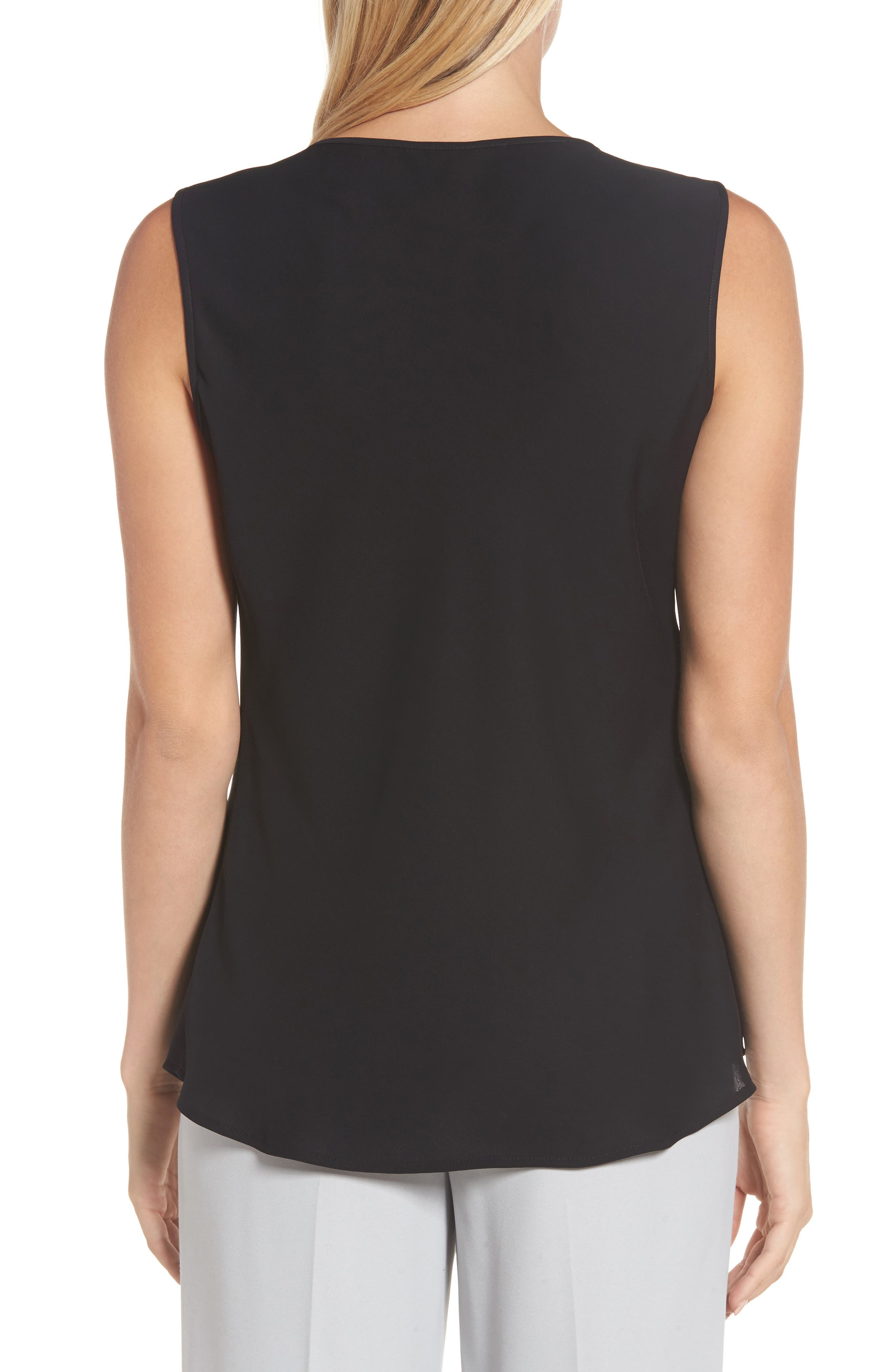 Easy Keyhole Tank Top,                             Alternate thumbnail 2, color,                             Black Onyx