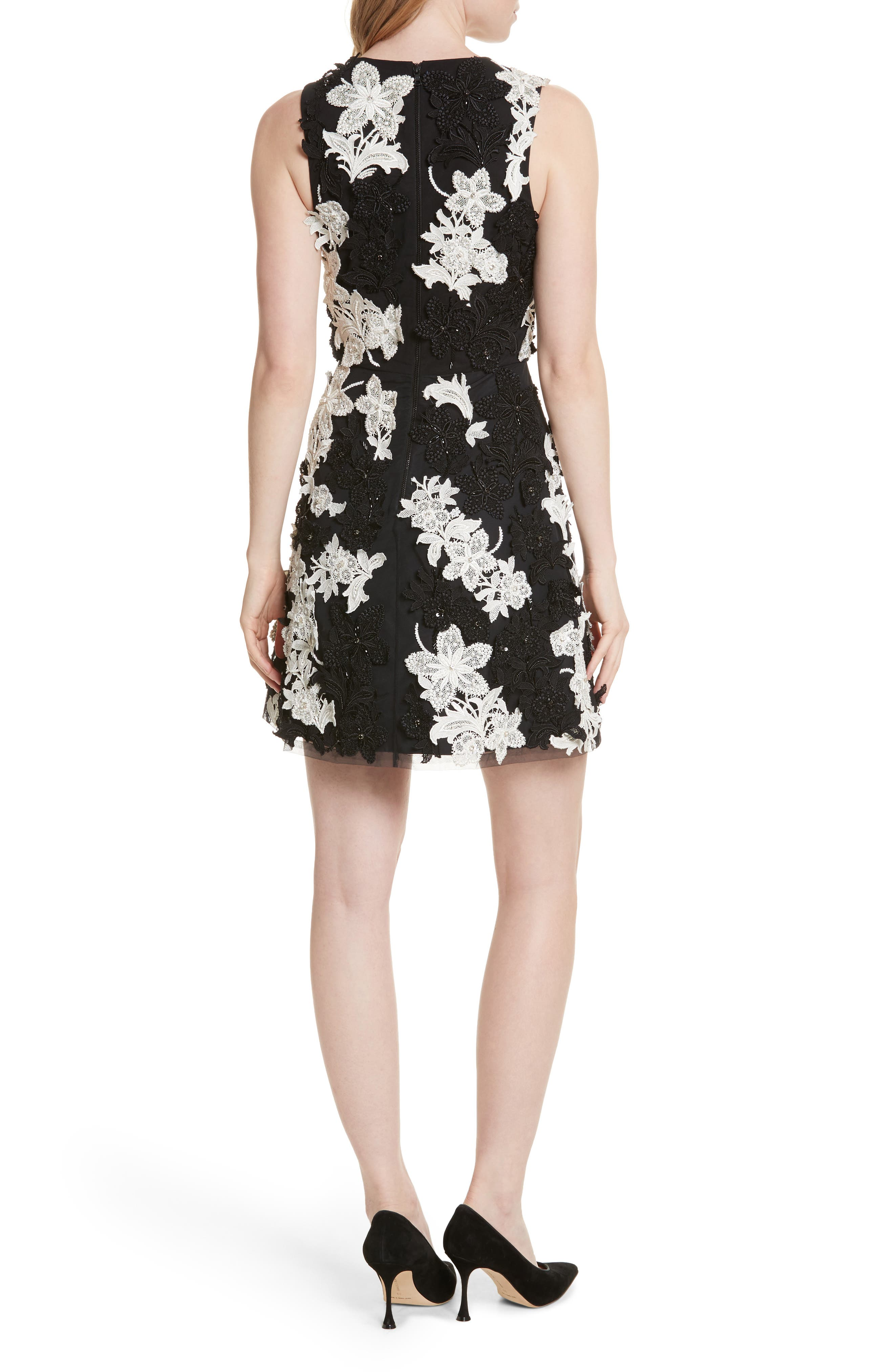 Alternate Image 2  - Alice + Olivia Embellished V-Neck Dress