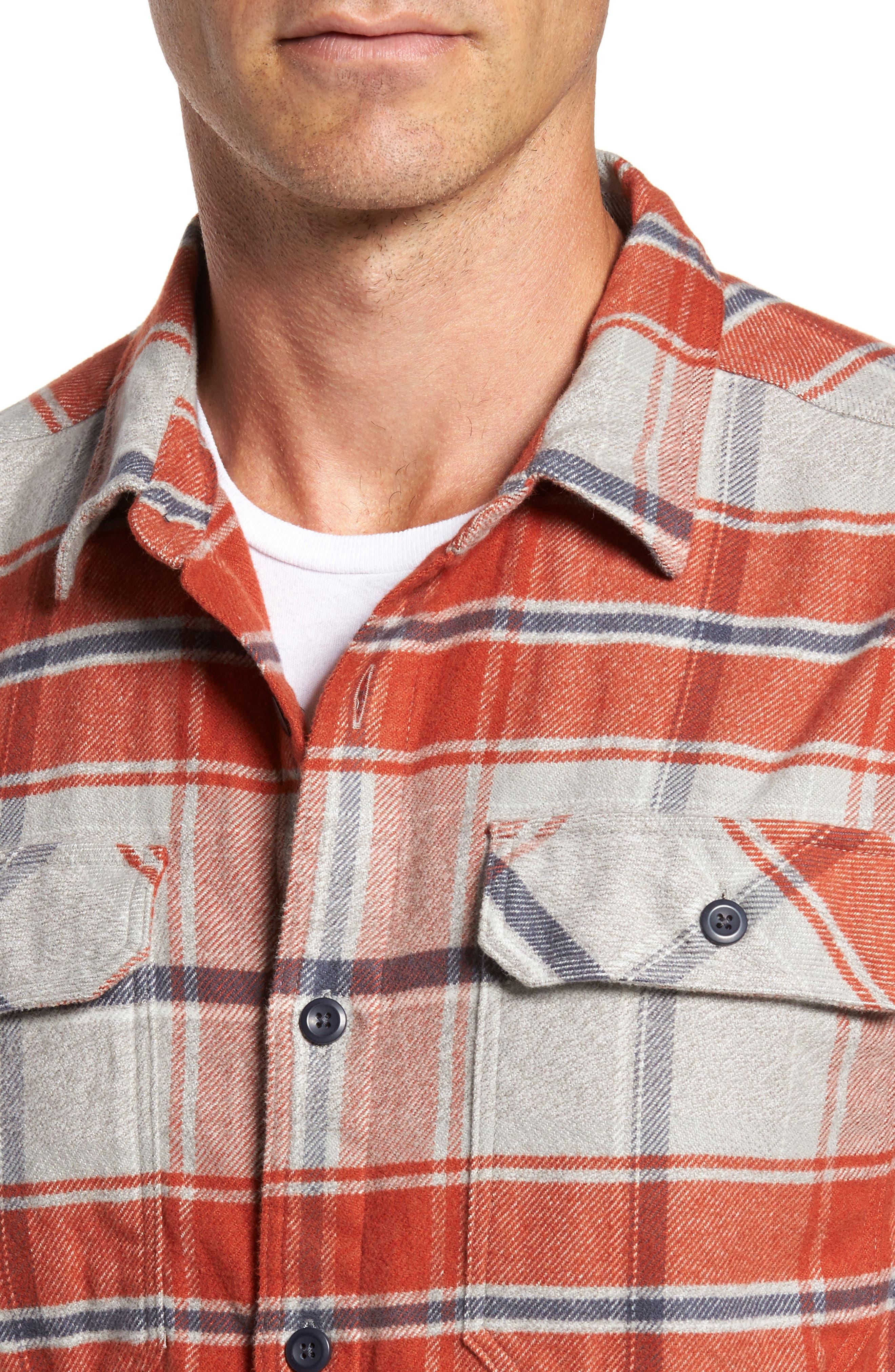 Alternate Image 4  - Patagonia 'Fjord' Regular Fit Organic Cotton Flannel Shirt