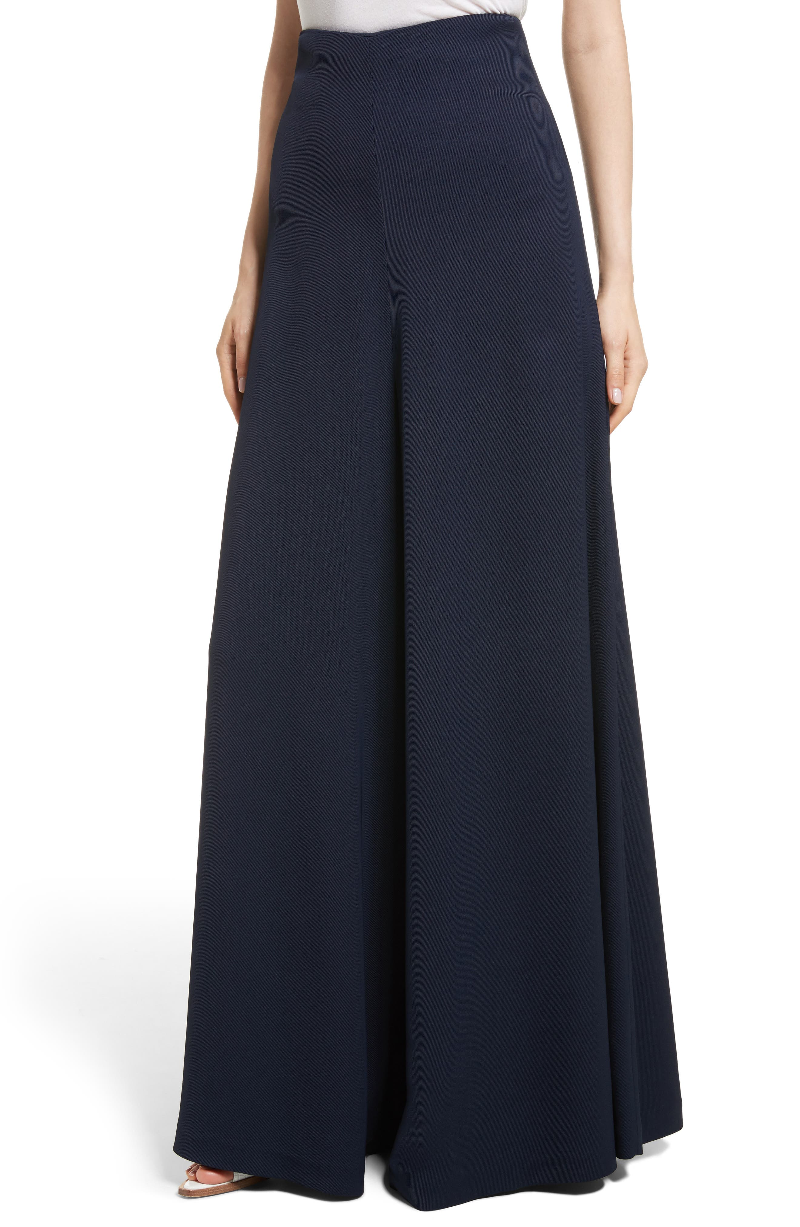 Wide Leg Trousers,                             Alternate thumbnail 4, color,                             Navy
