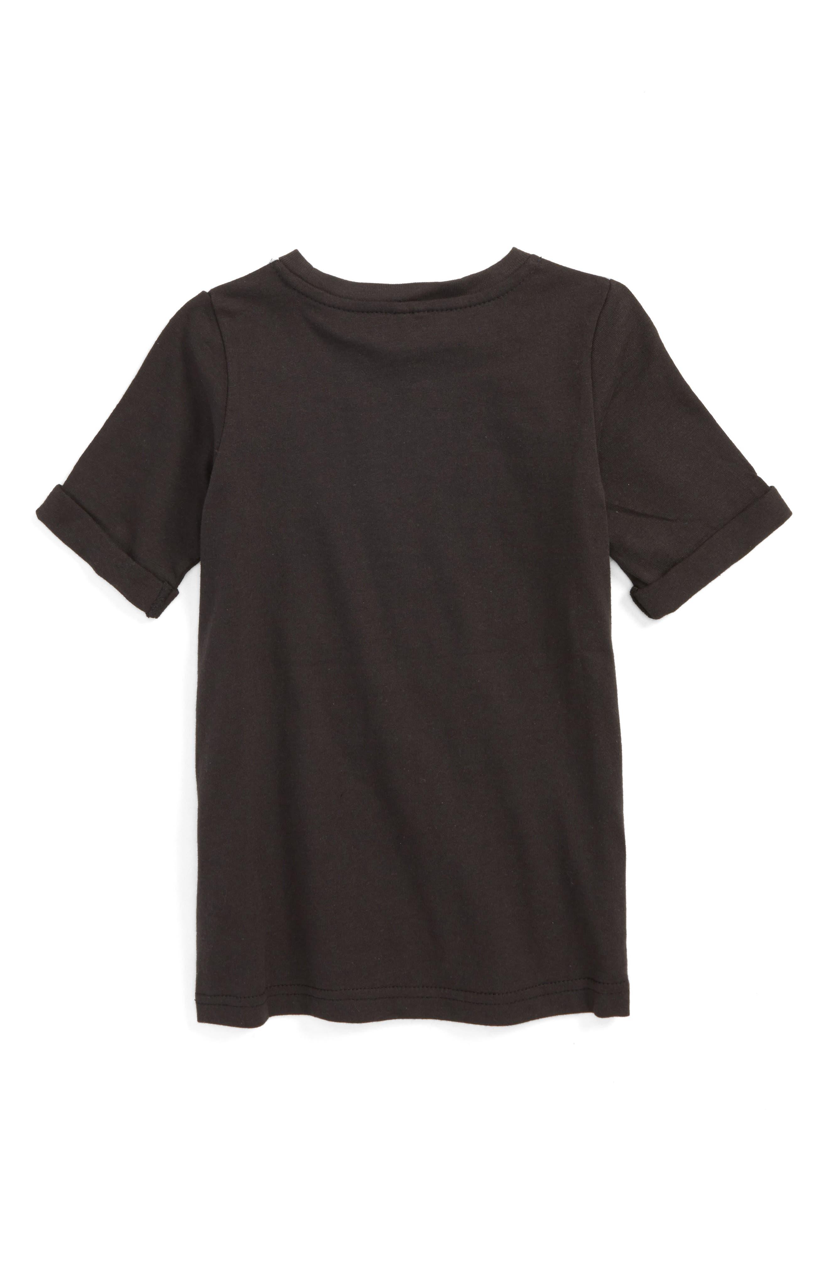 Kids Swan Graphic T-Shirt Dress,                             Alternate thumbnail 2, color,                             Washed Black