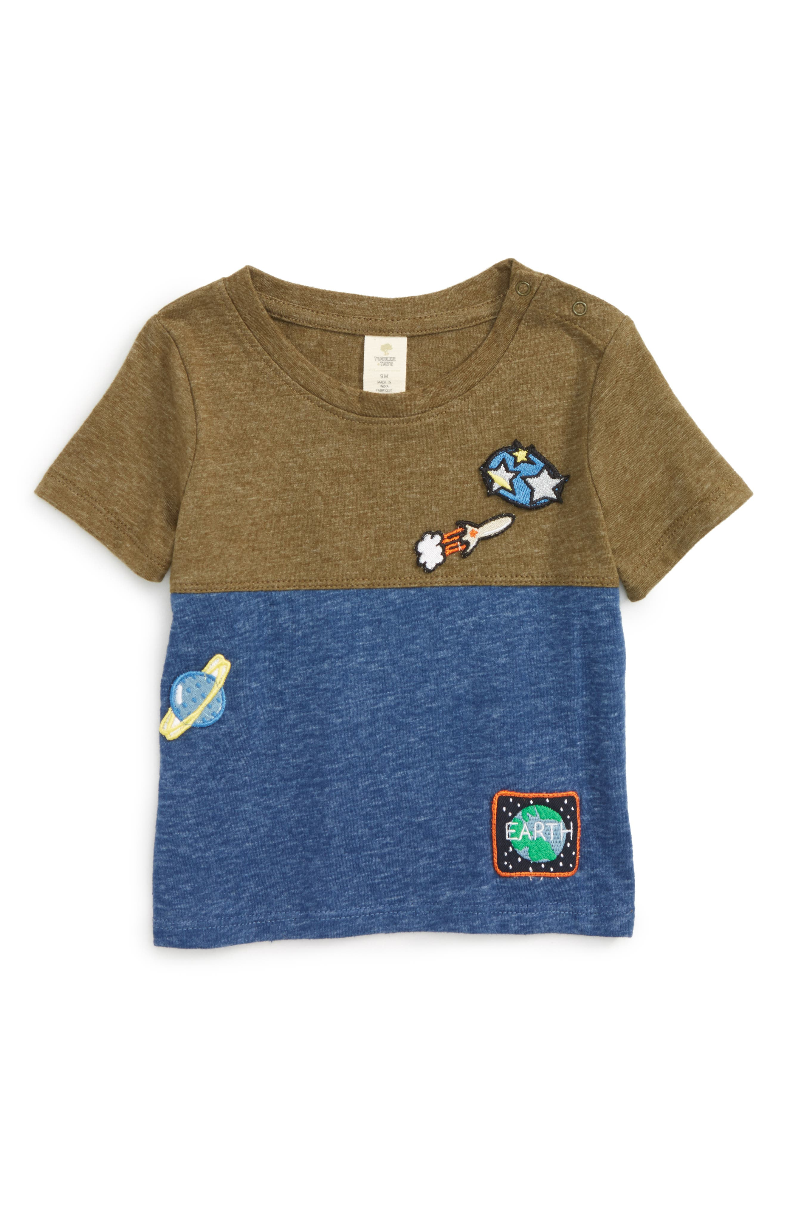 Patches Color Block T-Shirt,                         Main,                         color, Olive Dark Space Patches