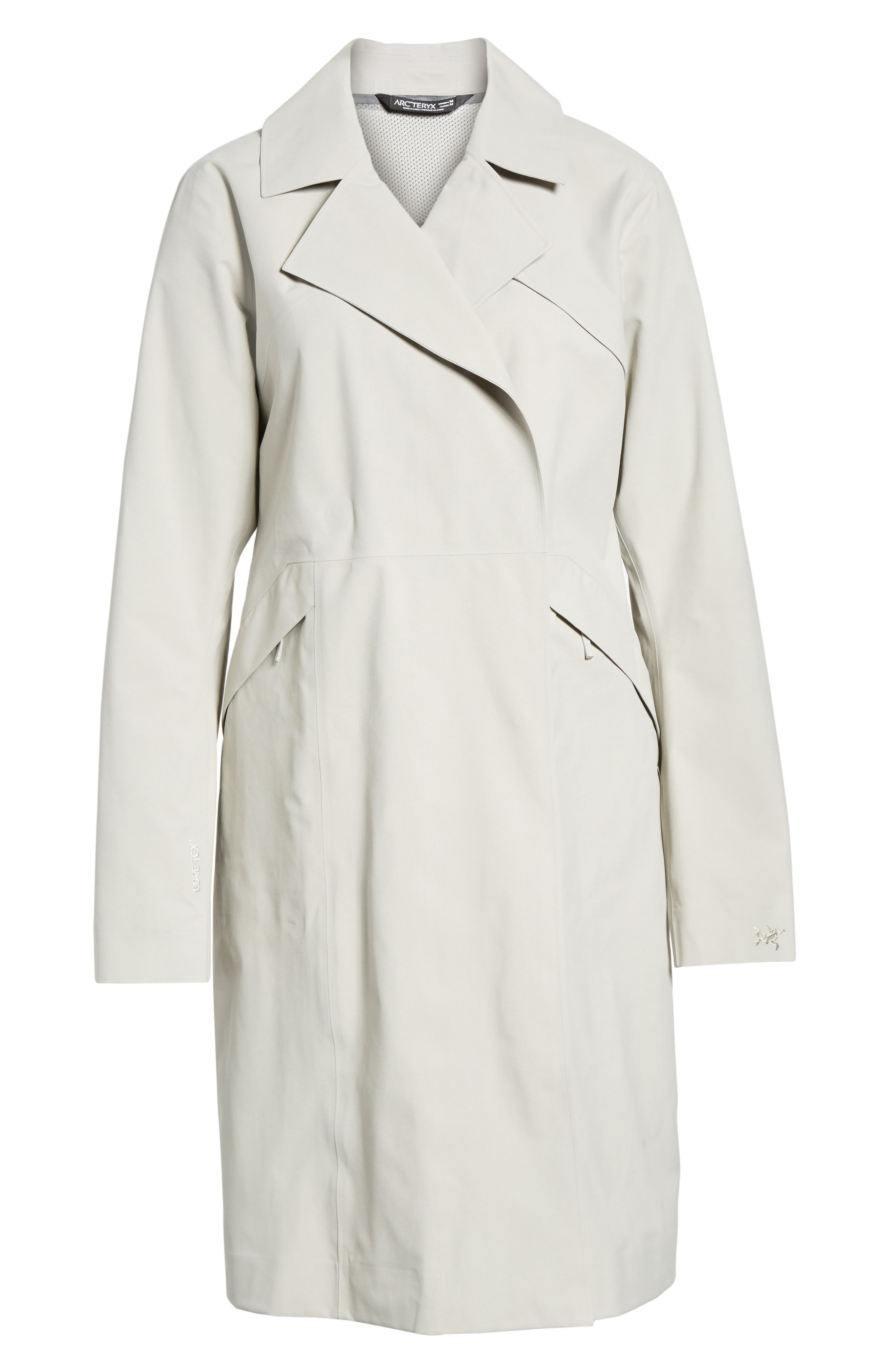 Nila Gore-Tex<sup>®</sup> Trench Coat,                             Alternate thumbnail 5, color,                             Fawn