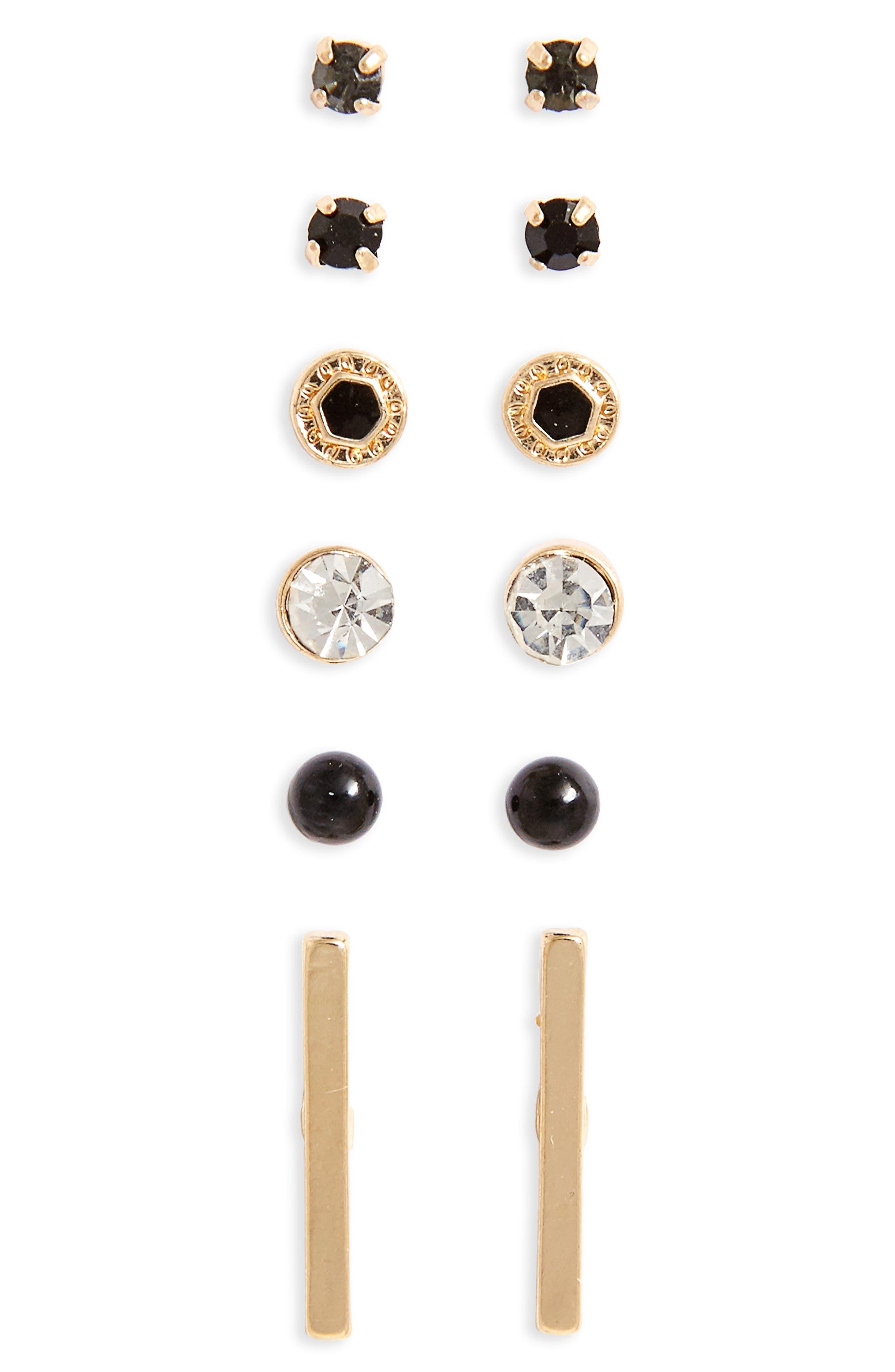 BP. 6-Pack Stud Earrings