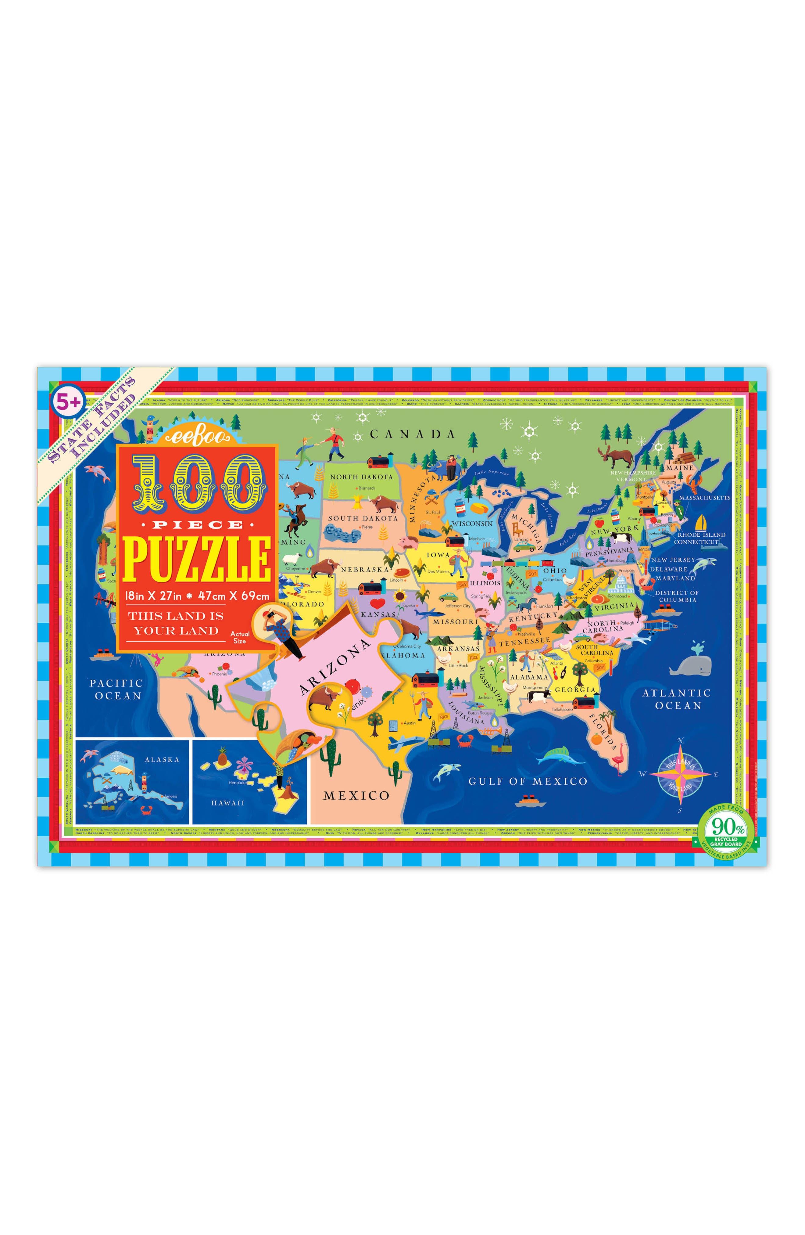 Alternate Image 1 Selected - eeBoo USA Jigsaw Puzzle
