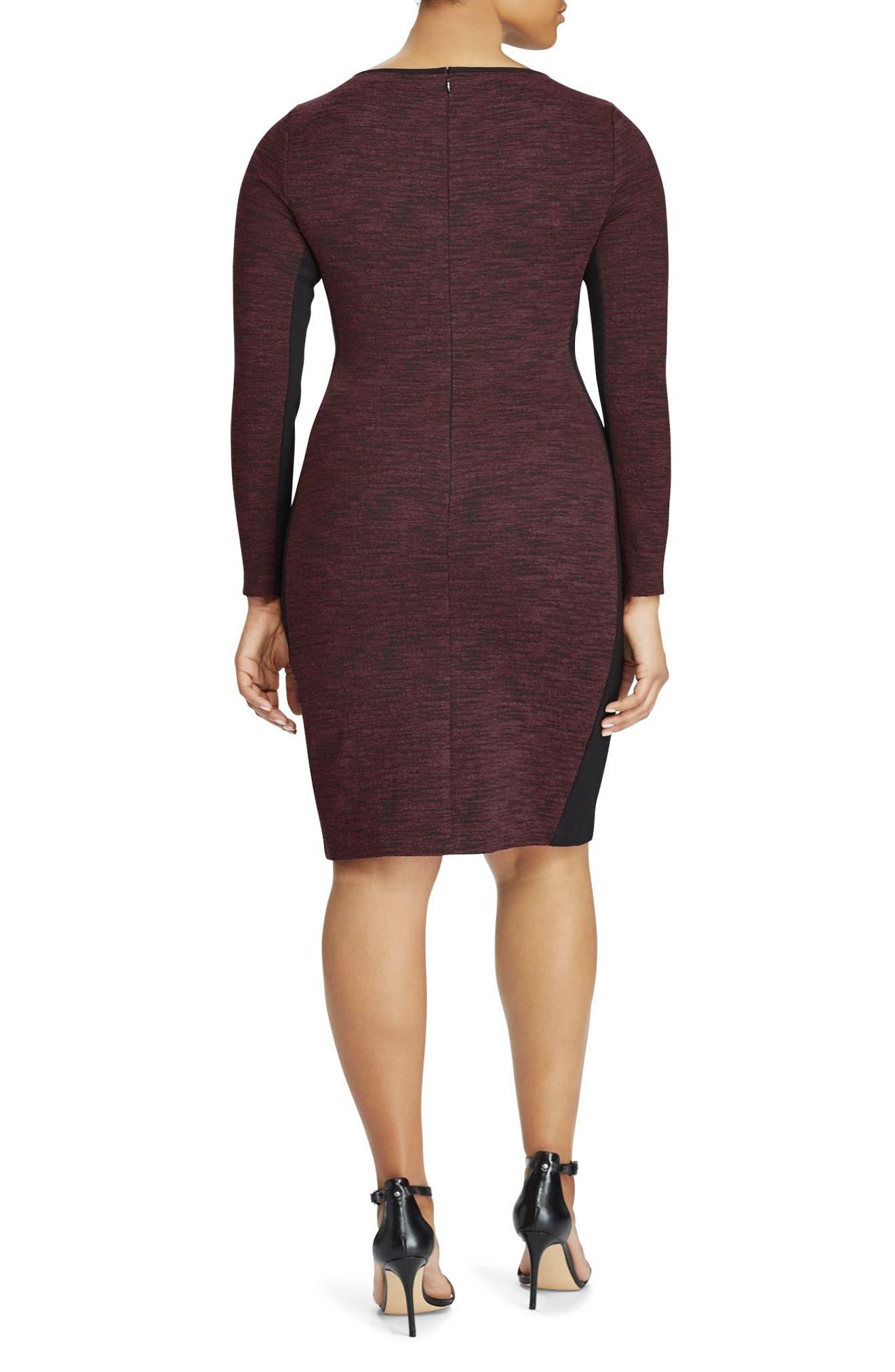 Alternate Image 2  - Ralph Lauren Colorblock Sheath Dress (Plus Size)