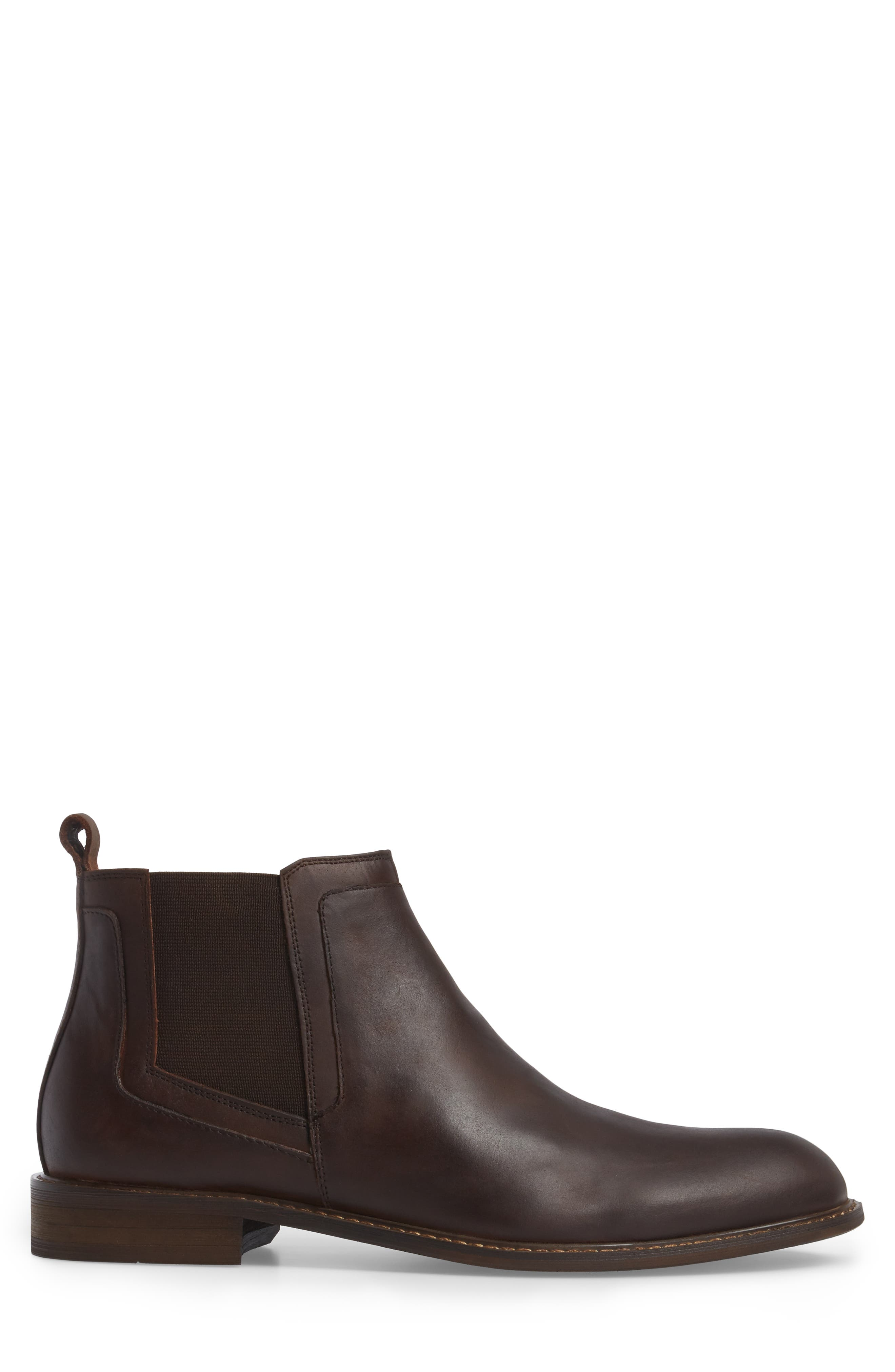 Chlesea Boot,                             Alternate thumbnail 3, color,                             Brown Leather