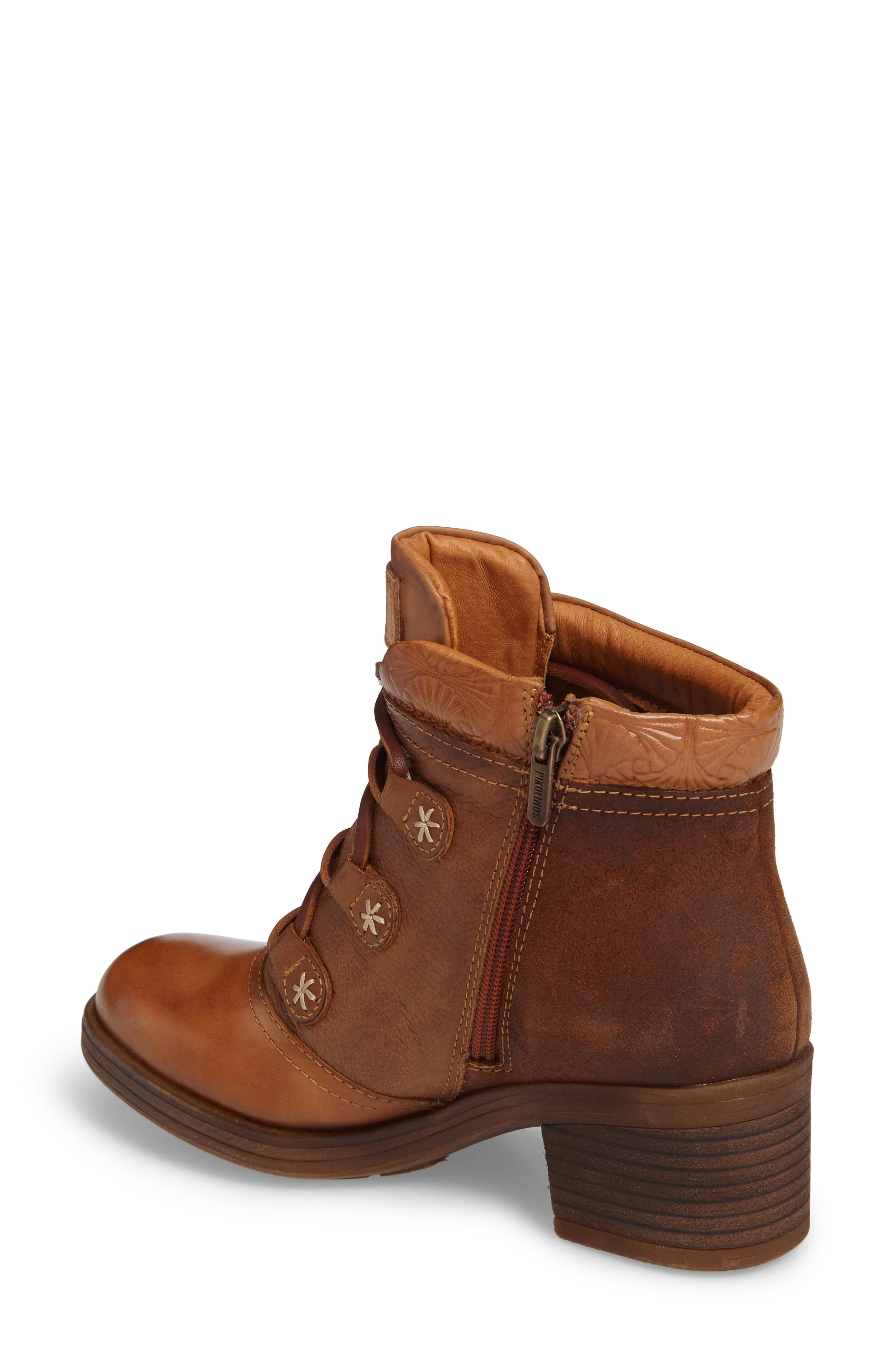 Lyon Lace-Up Boot,                             Alternate thumbnail 2, color,                             Brandy Leather