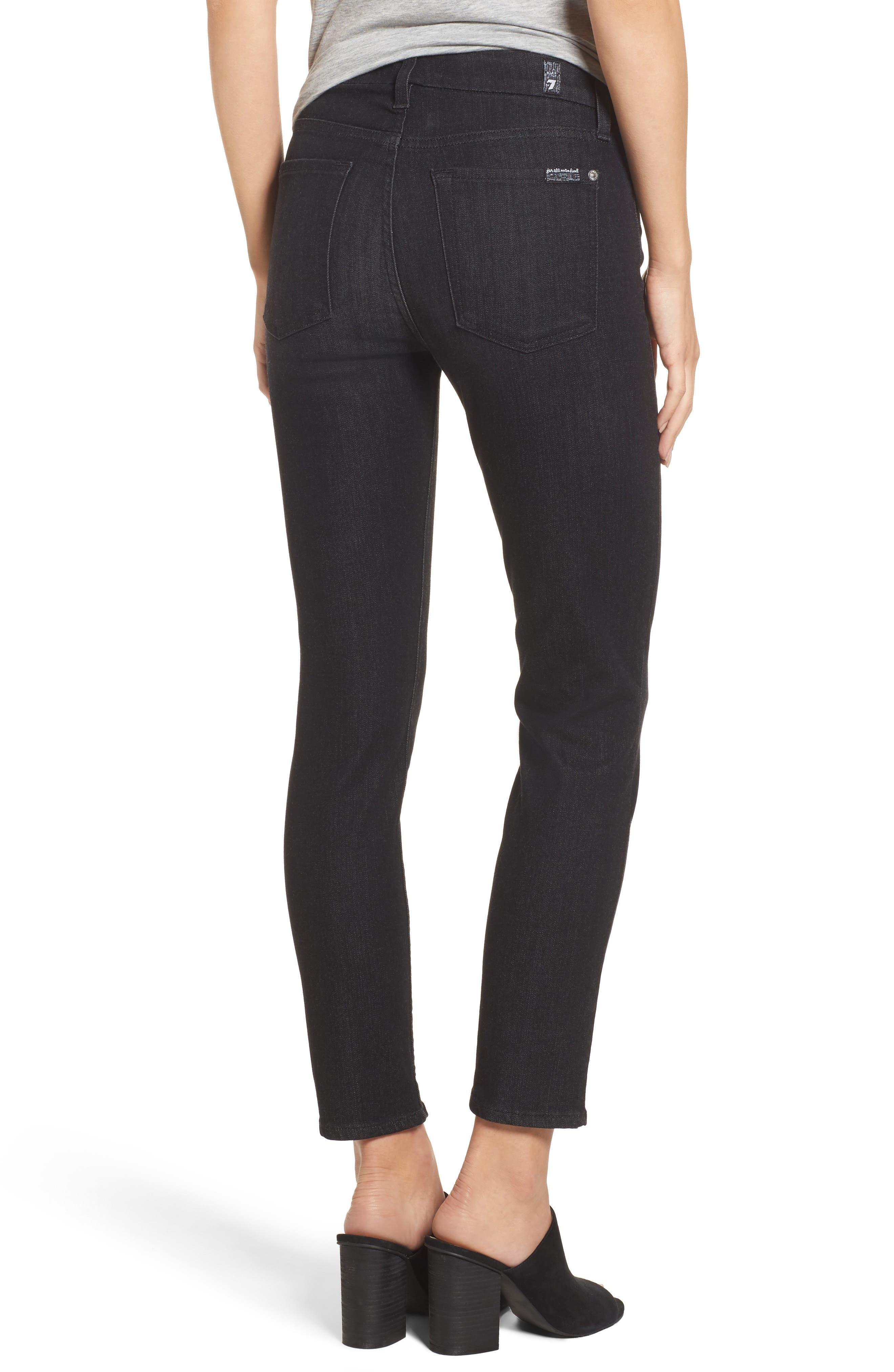 b(air) - Roxanne Ankle Zip Jeans,                             Alternate thumbnail 2, color,                             Bair Noir