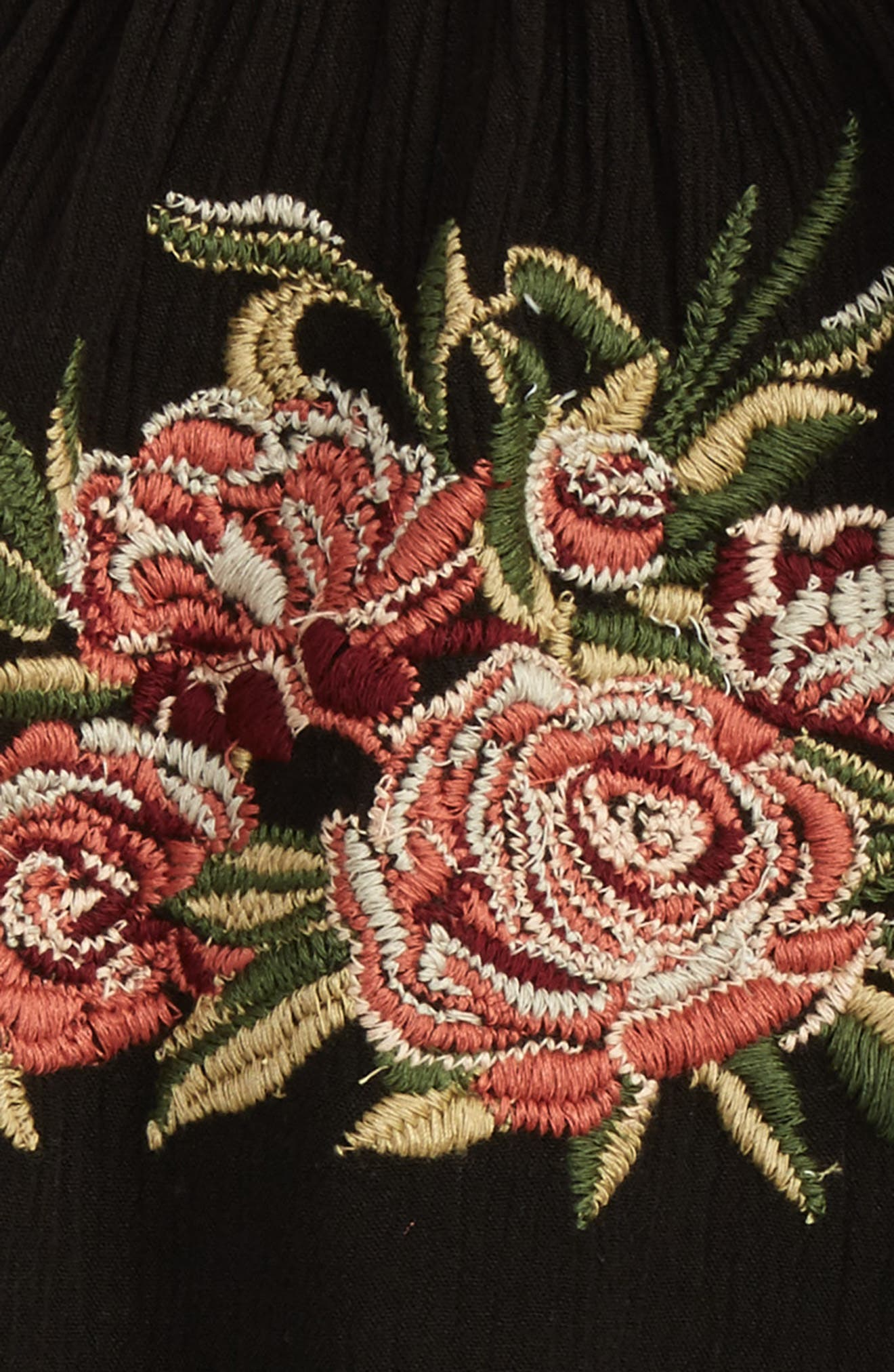 Alternate Image 2  - Zoe and Rose Embroidered Halter Top (Big Girls)