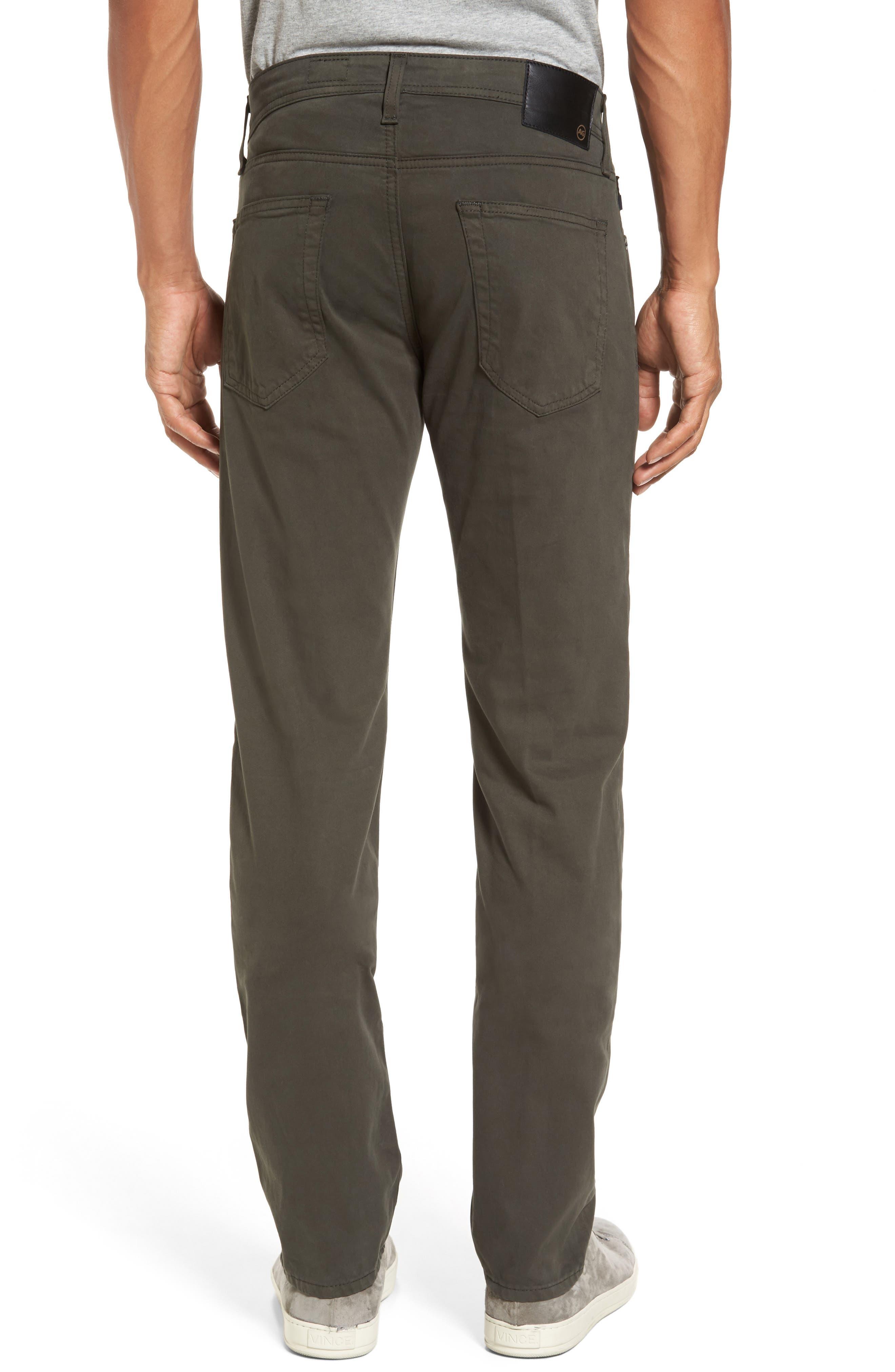 Tellis SUD Modern Slim Stretch Twill Pants,                             Alternate thumbnail 2, color,                             Green Forest