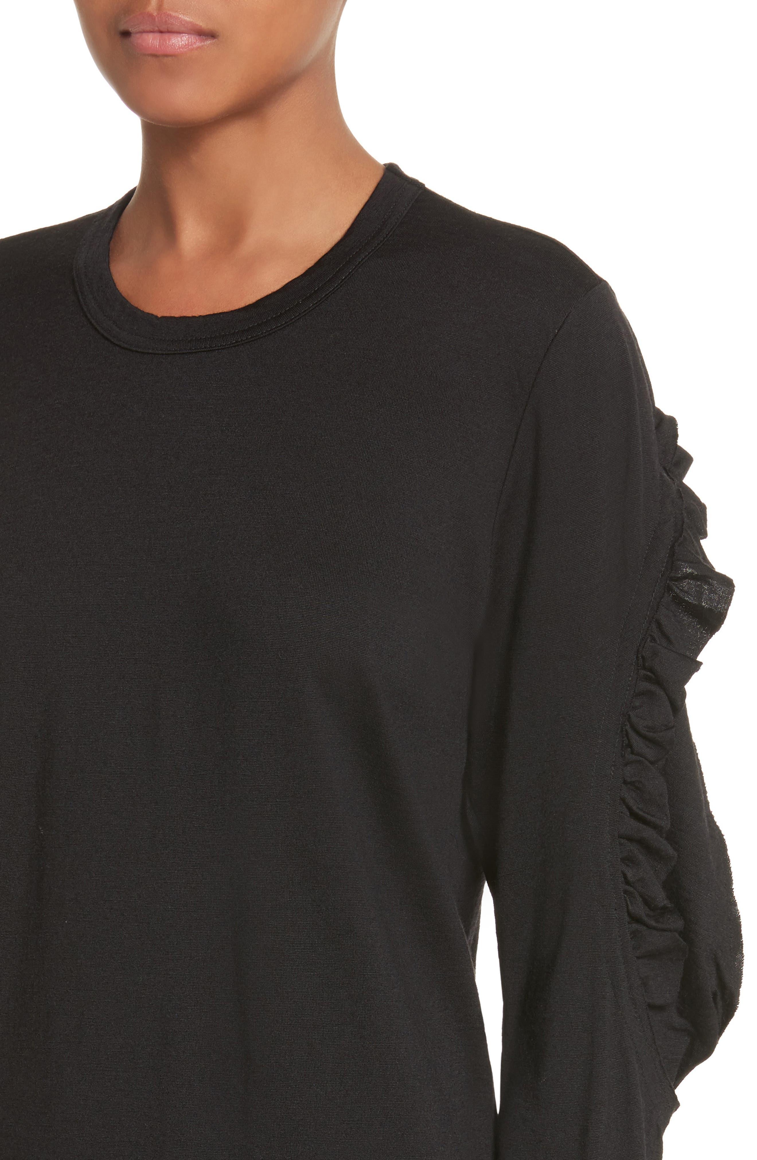 Alternate Image 4  - Comme des Garçons Ruffle Sleeve Wool Top