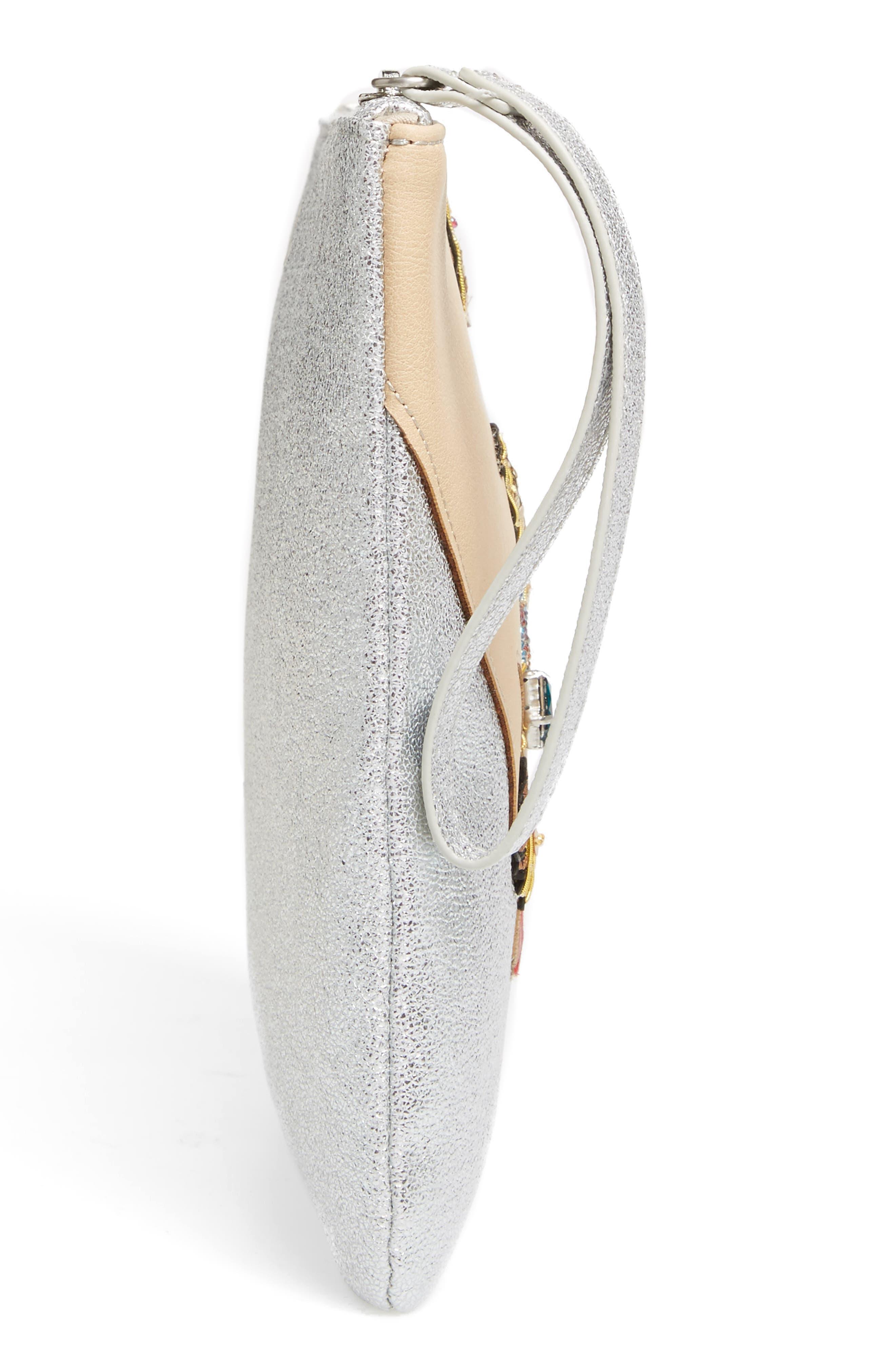 Alternate Image 4  - Sam Edelman Jeana Hand Zip Metallic Faux Leather Pouch