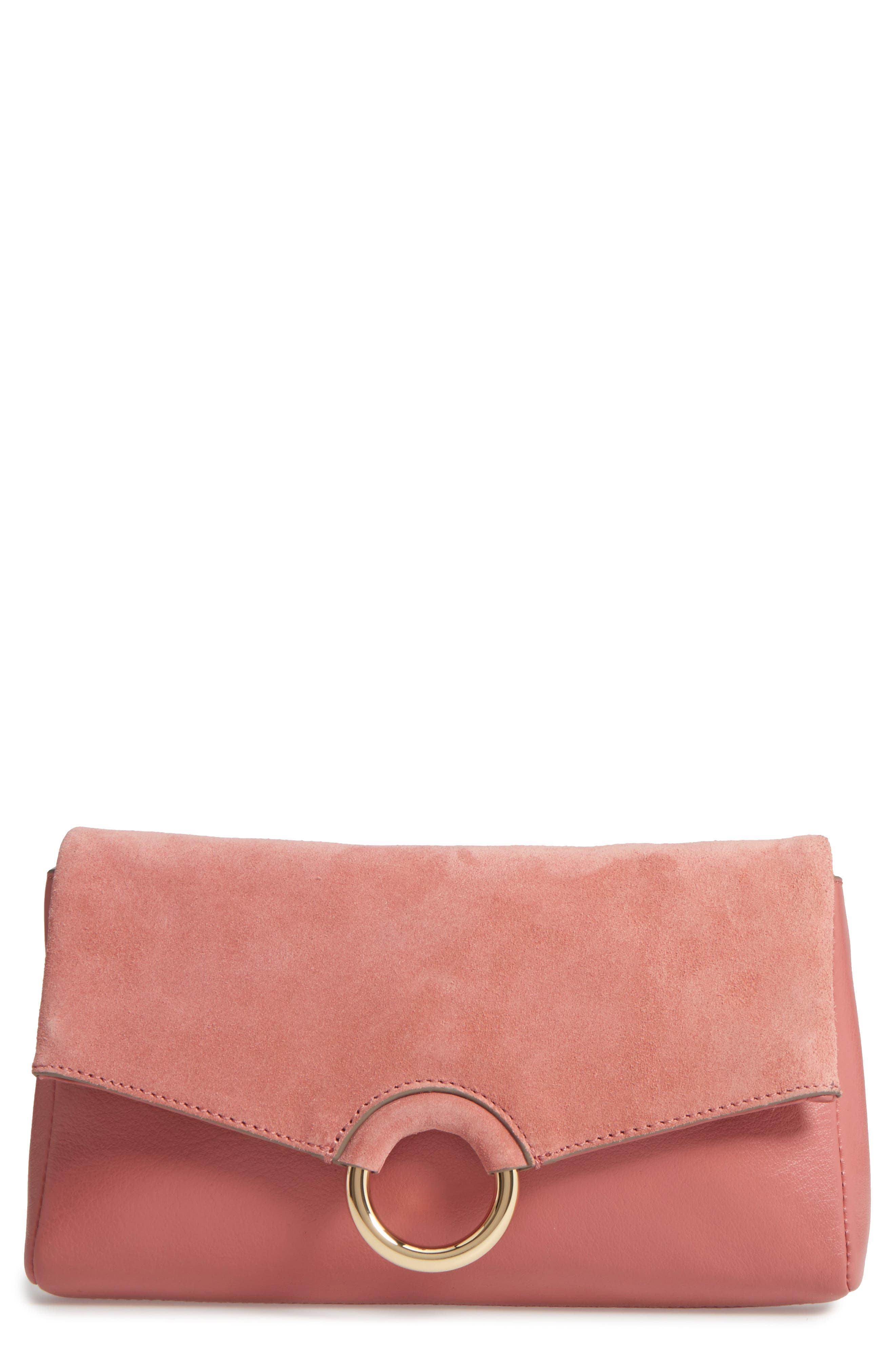 Vince Camuto Adiana Leather & Suede Clutch