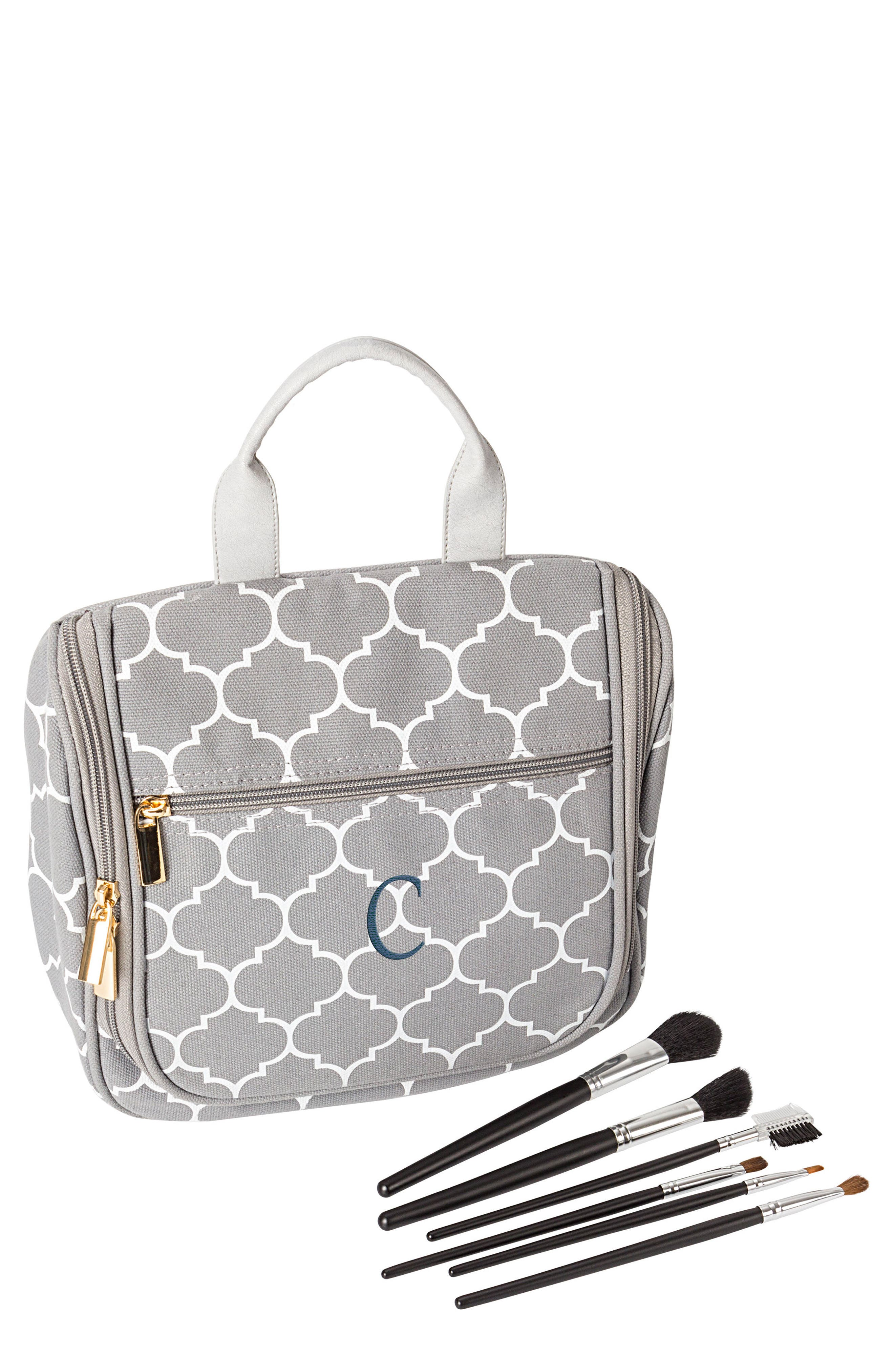Monogram Travel Kit,                         Main,                         color, Grey-C
