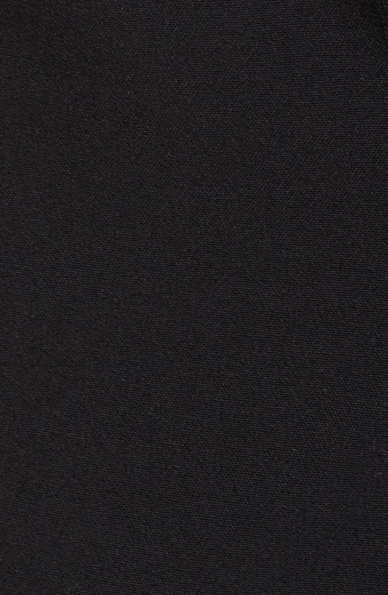 Ruched Sleeve Blazer,                             Alternate thumbnail 5, color,                             Black