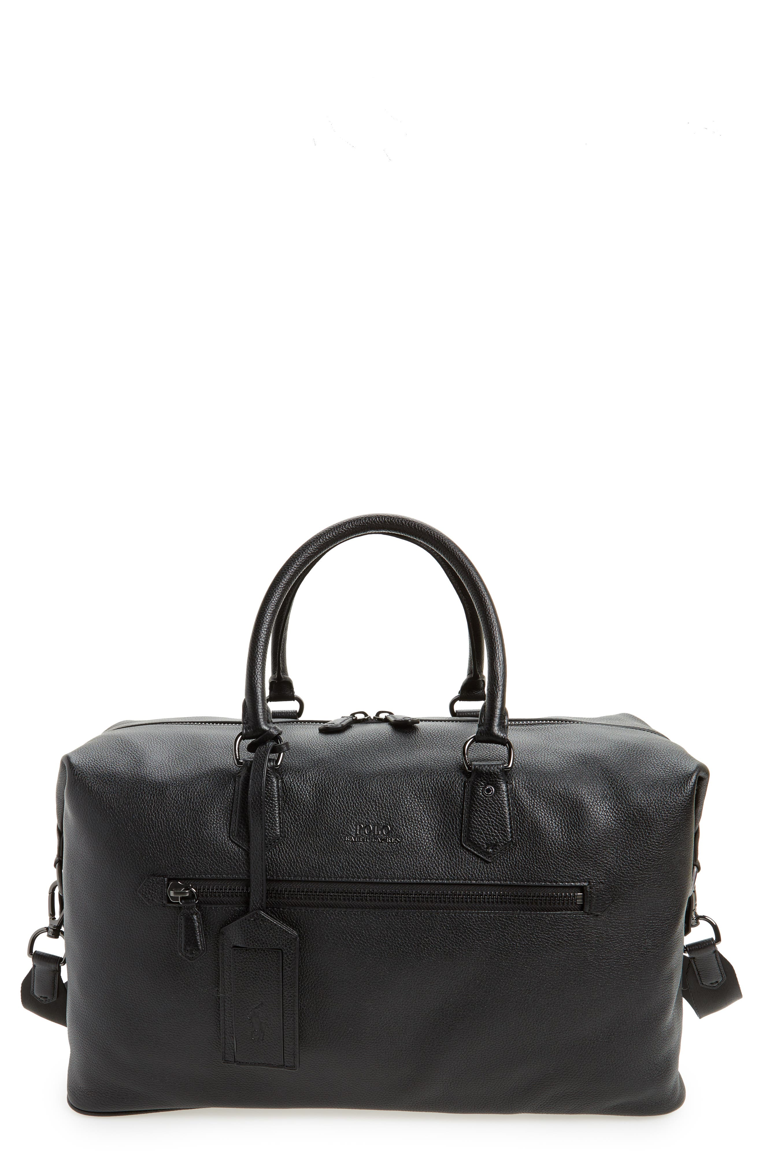 ... cheapest polo ralph lauren pebbled leather duffel bag 67b6c f3d1d ... 5d28f50c3b