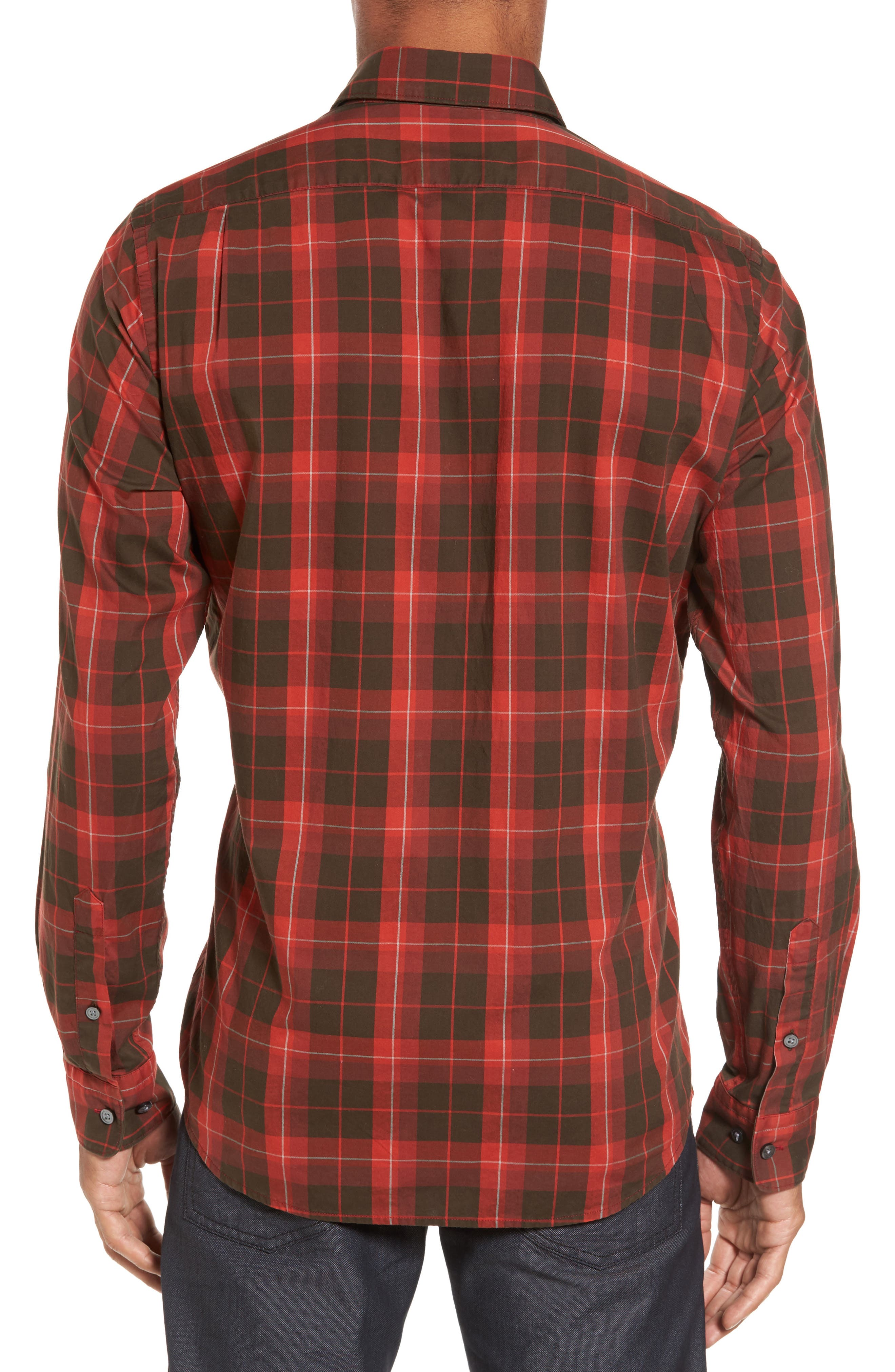 Alternate Image 2  - BOSS Lukas Regular Fit Windowpane Plaid Sport Shirt
