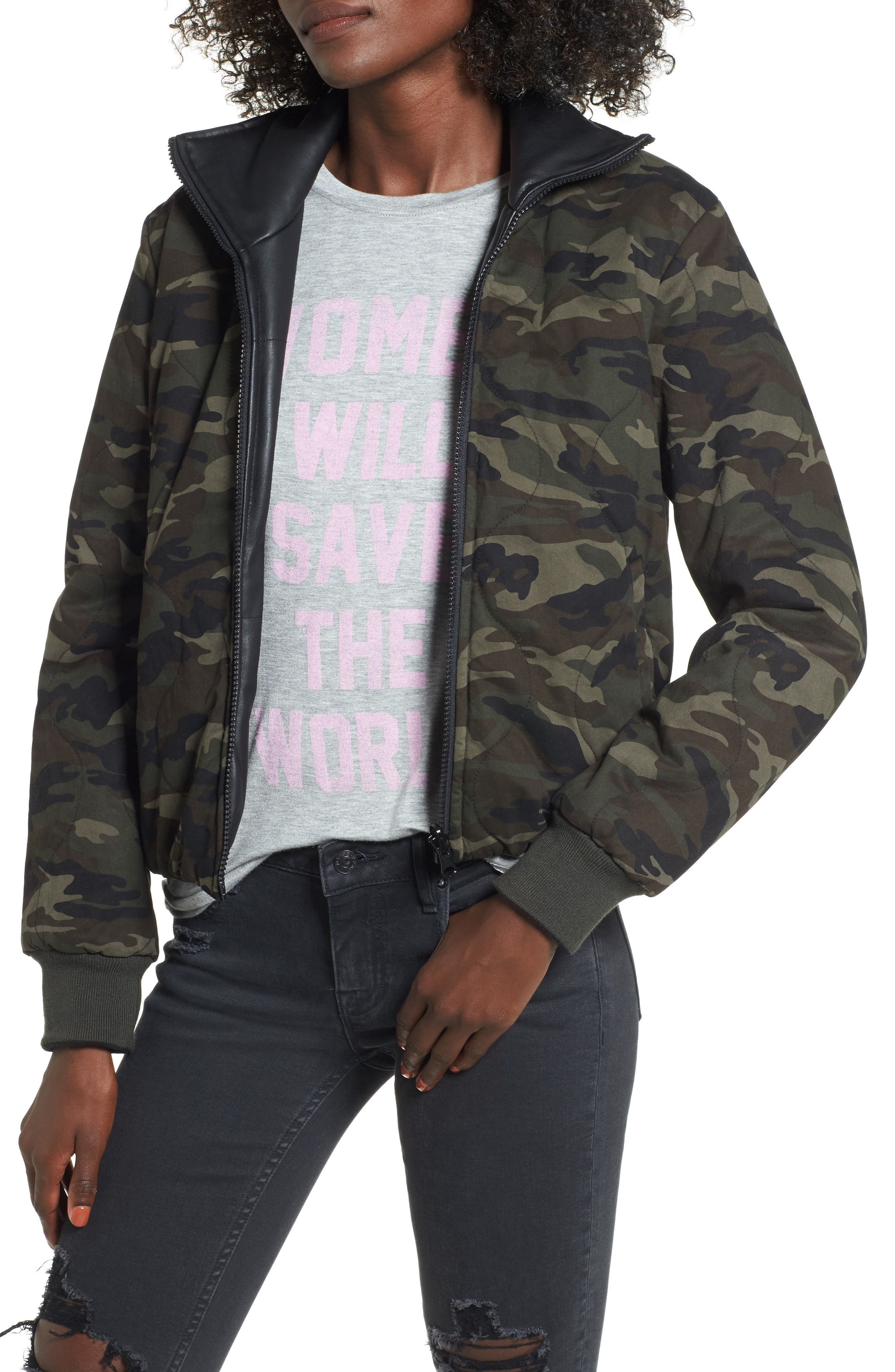 Reversible Camo Jacket,                             Main thumbnail 1, color,                             Camo