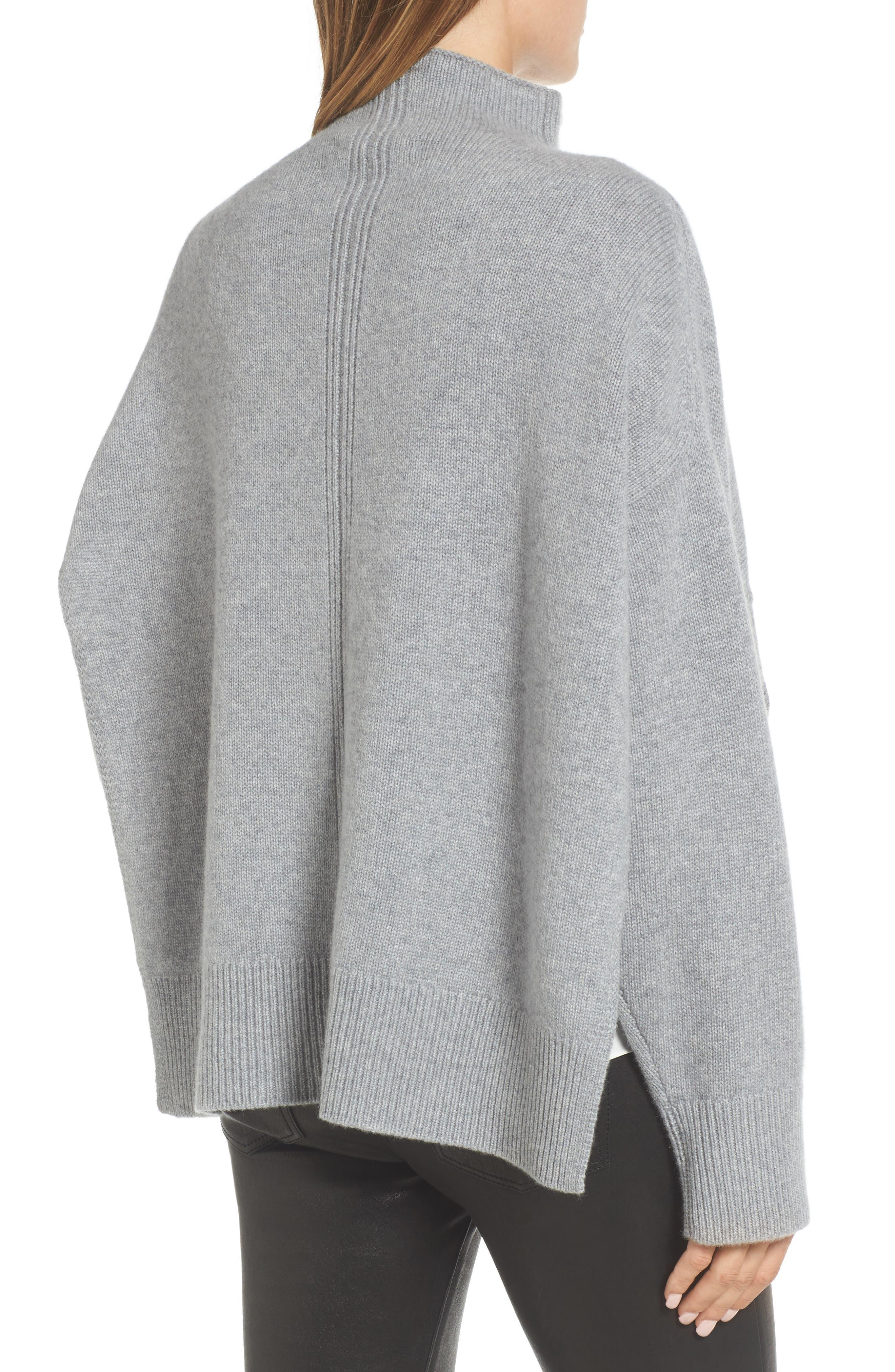 Alternate Image 2  - Nordstrom Signature Side Slit Cashmere Sweater