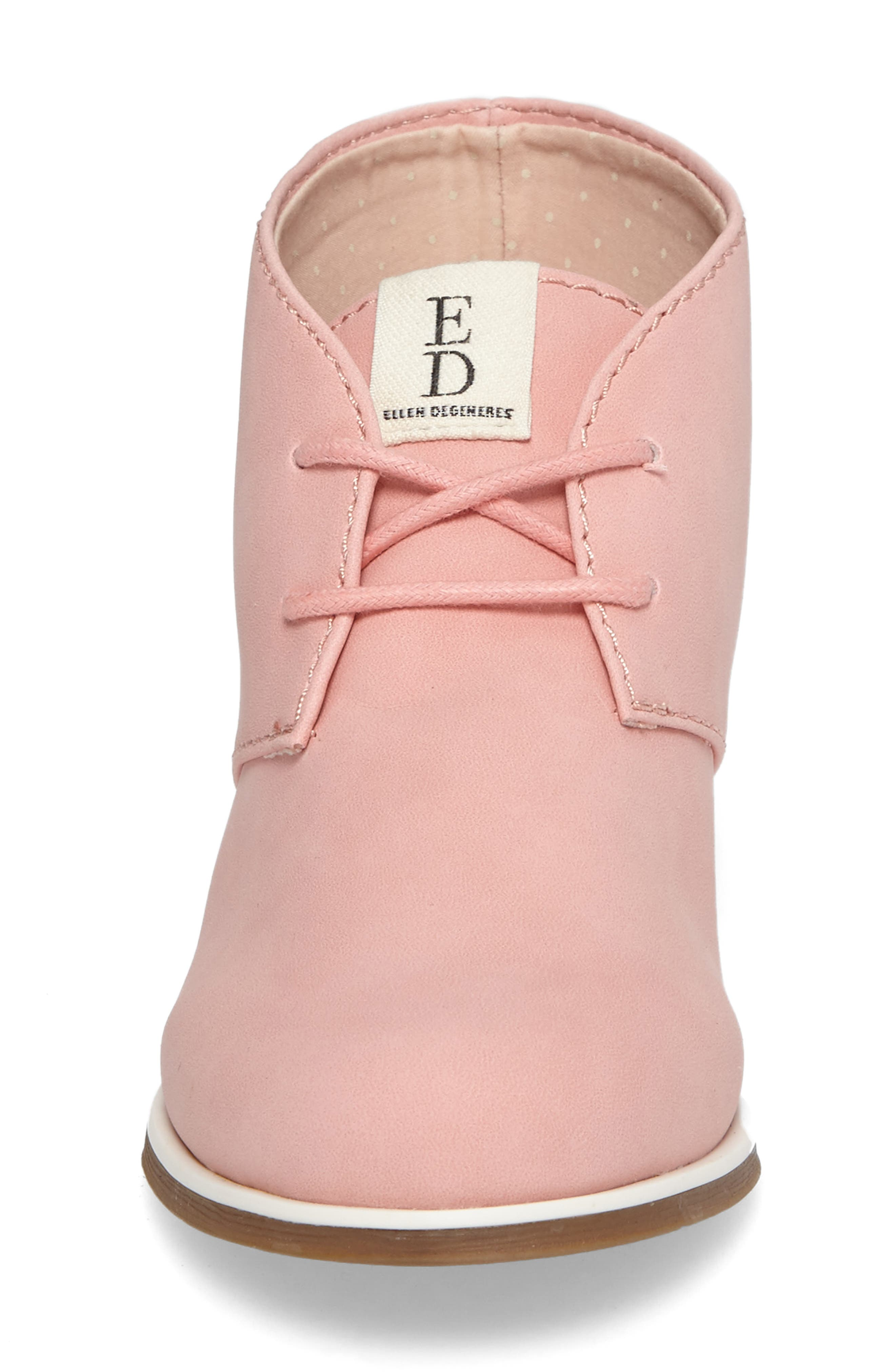 Korie Chukka Bootie,                             Alternate thumbnail 4, color,                             Poppy Pink Suede