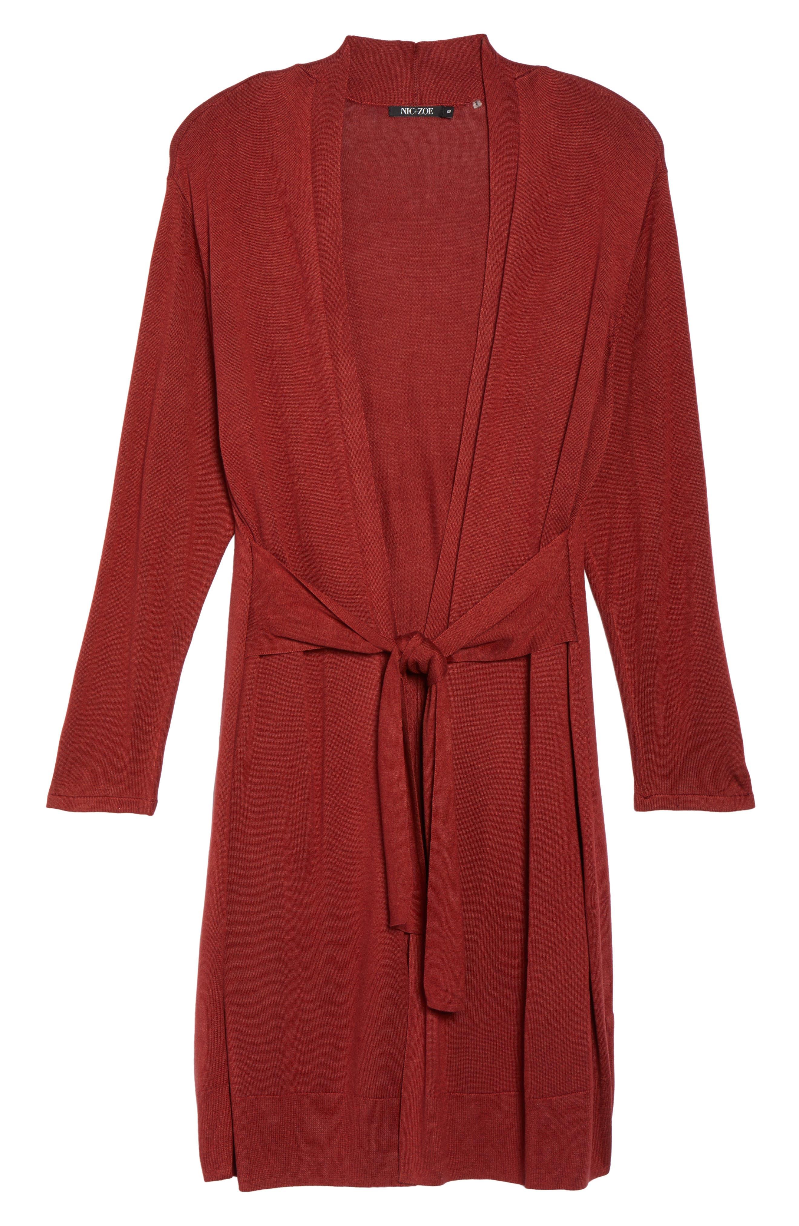 Alternate Image 5  - NIC+ZOE Silk Blend Trench Cardigan (Plus Size)