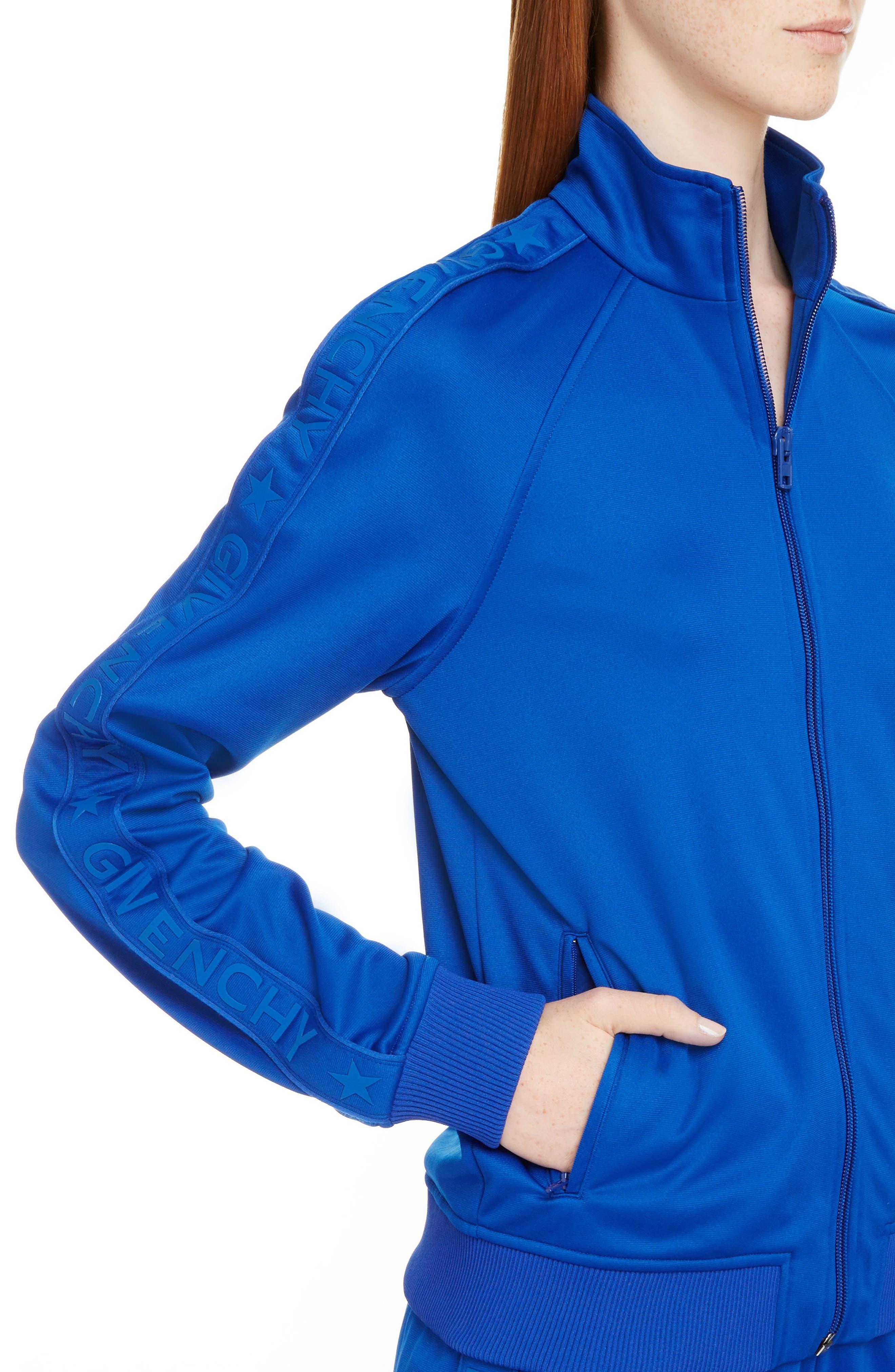 Tonal Logo Track Jacket,                             Alternate thumbnail 4, color,                             Electric Blue