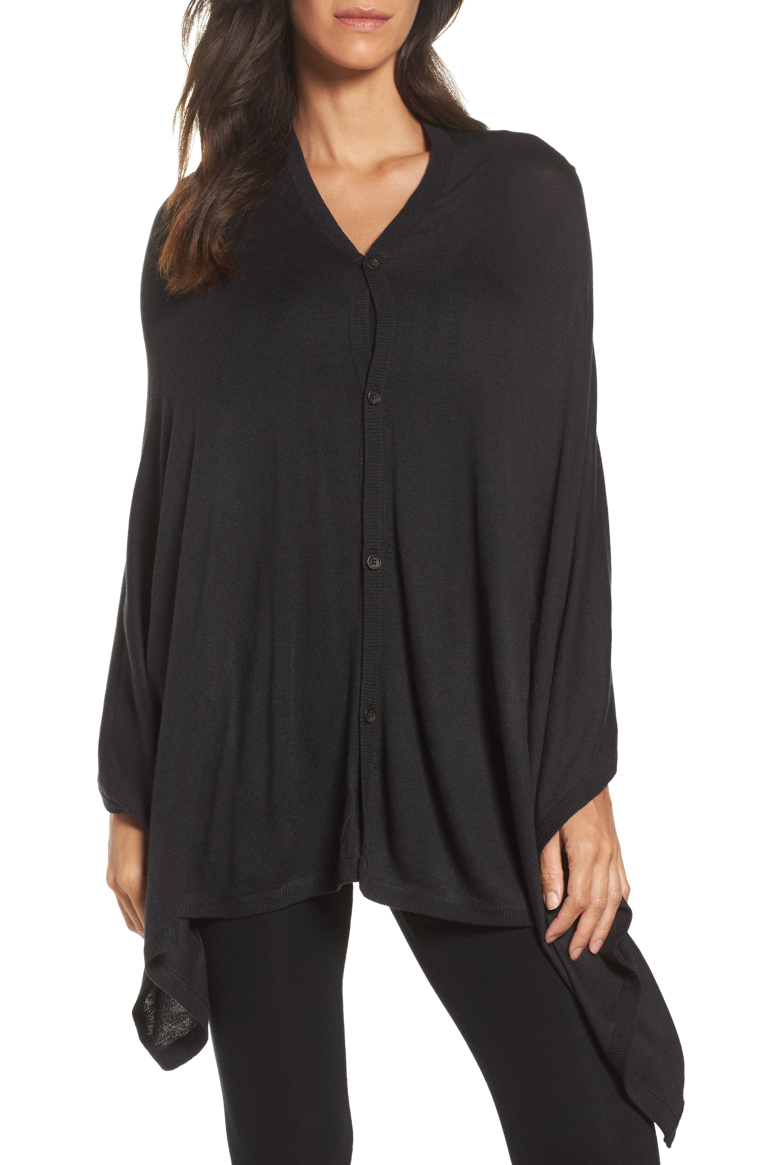 Alternate Image 1 Selected - UGG® Button Poncho