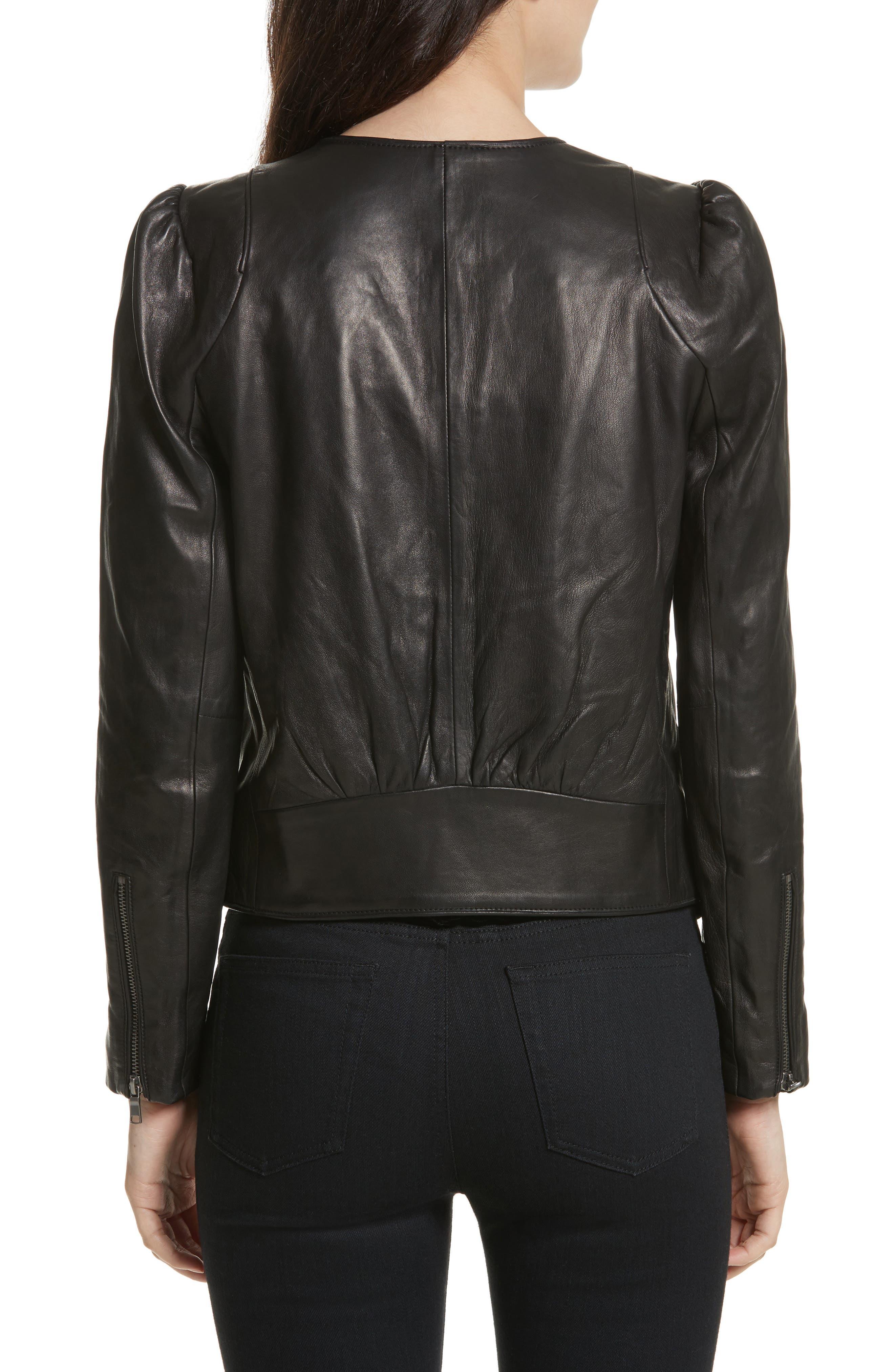 Alternate Image 2  - Derica Leather Jacket