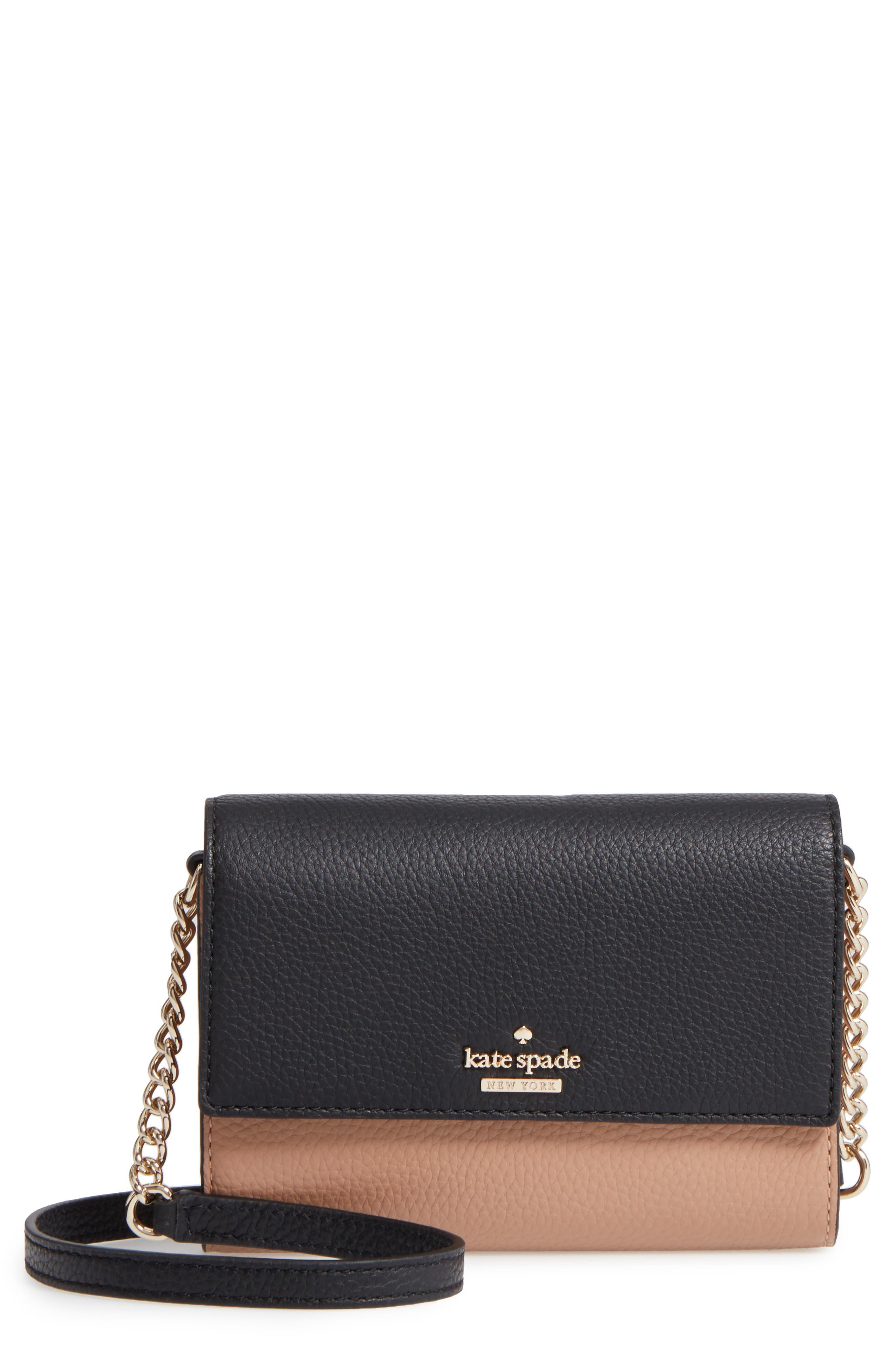 kate spade new york jackson street - iva leather crossbody bag