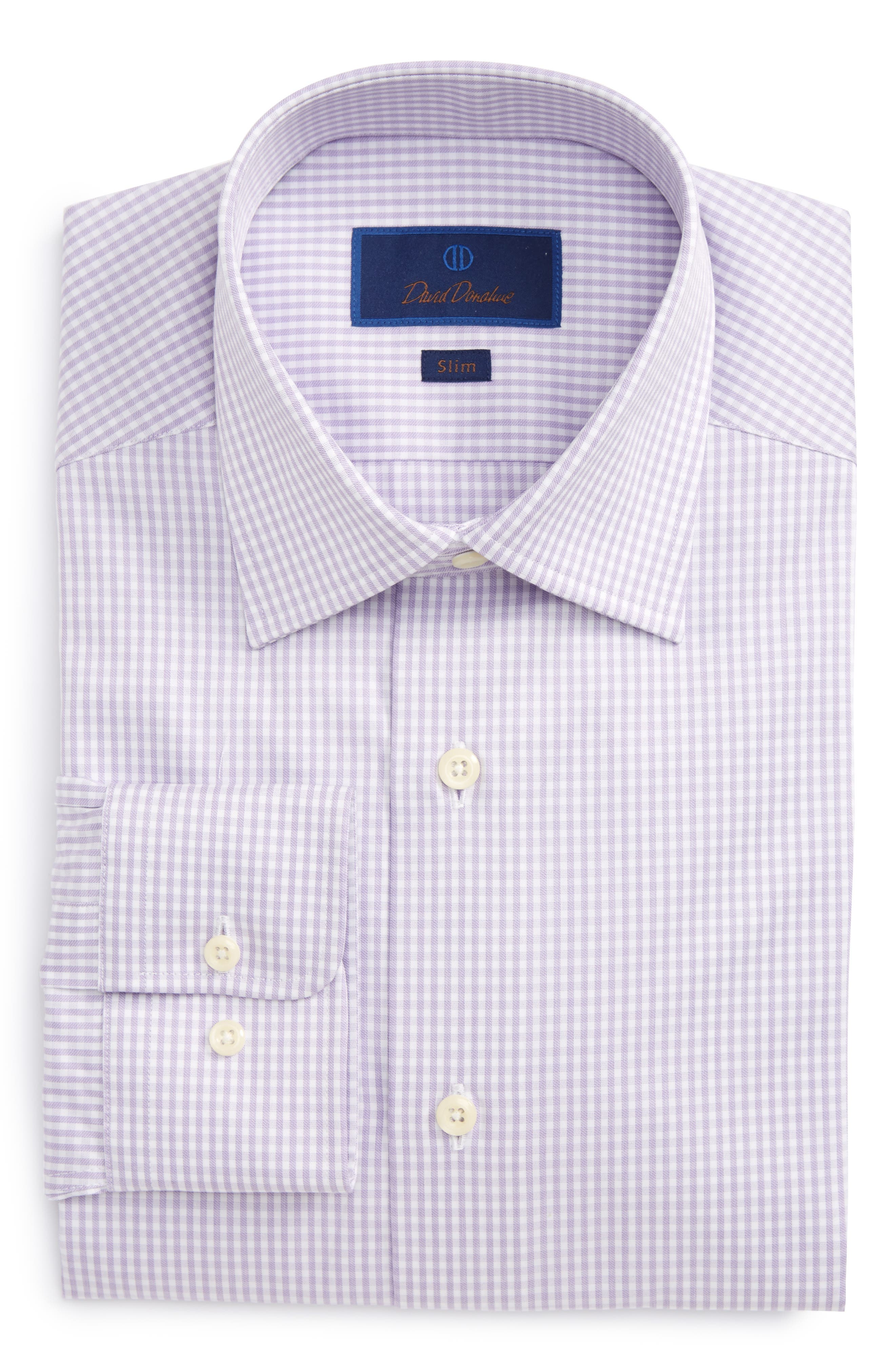 Main Image - David Donahue Slim Fit Check Dress Shirt