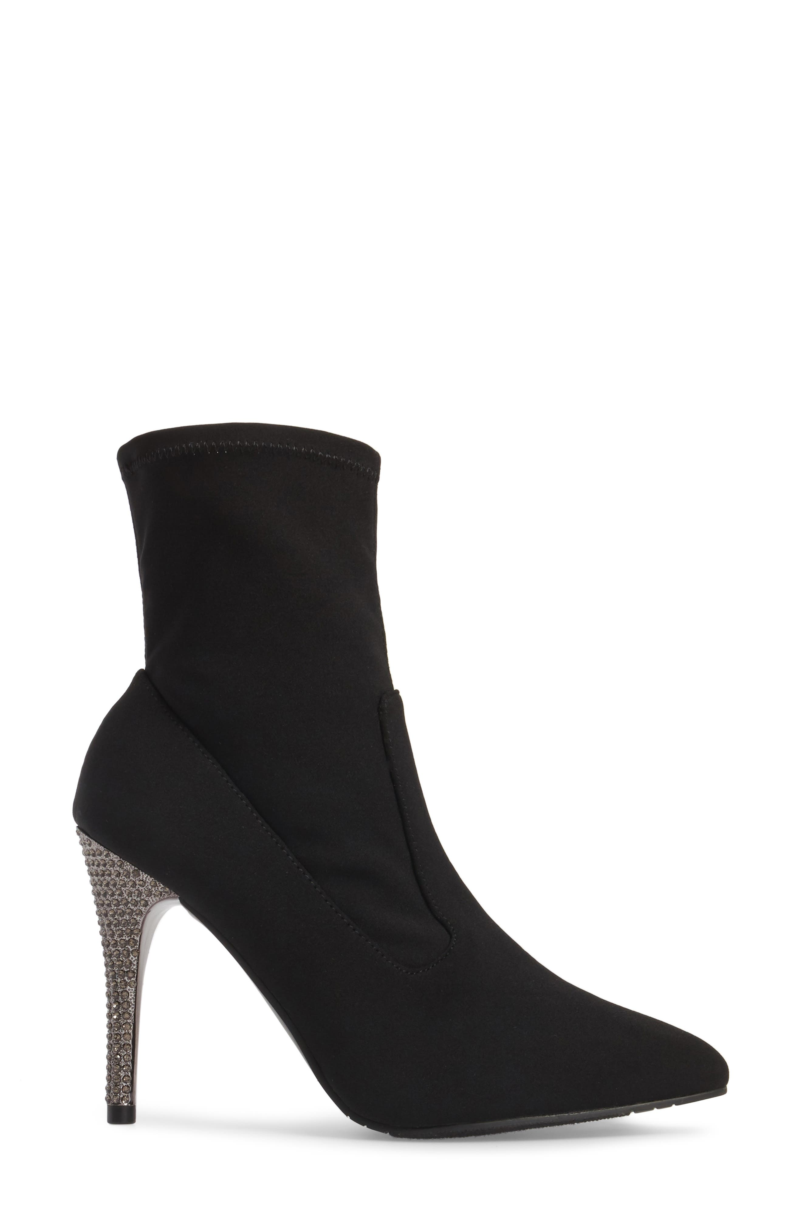 Roxie Bootie,                             Alternate thumbnail 3, color,                             Black Fabric