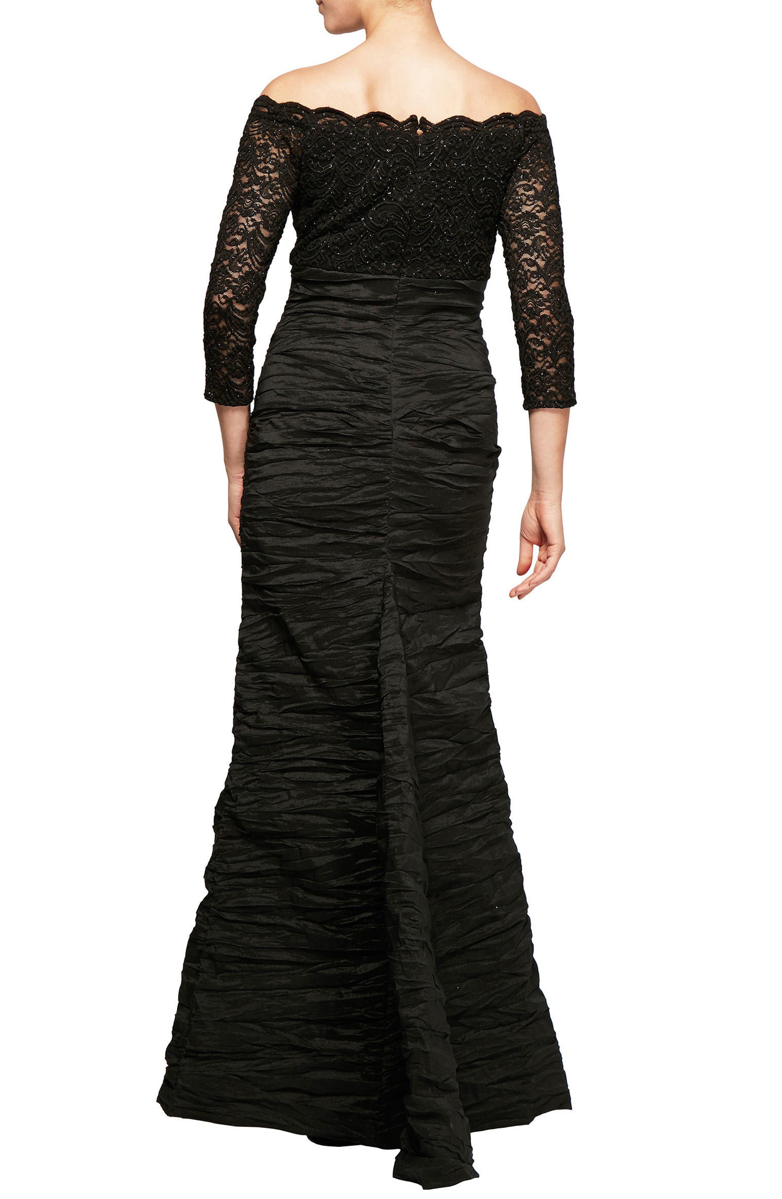 Alternate Image 2  - Alex Evenings Embellished Off the Shoulder Empire Gown
