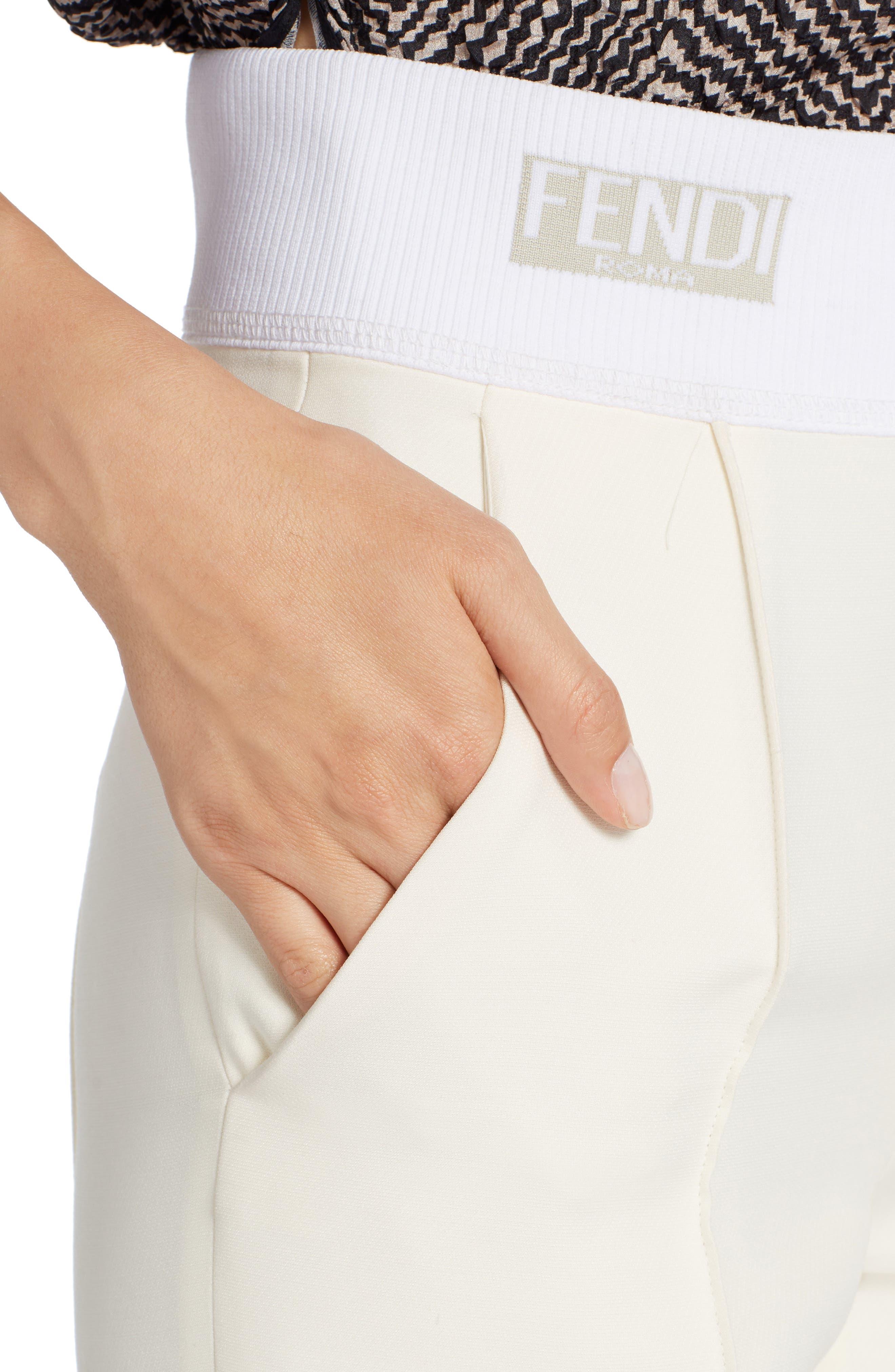 Alternate Image 4  - Fendi Wool & Silk Gazar Crop Pants