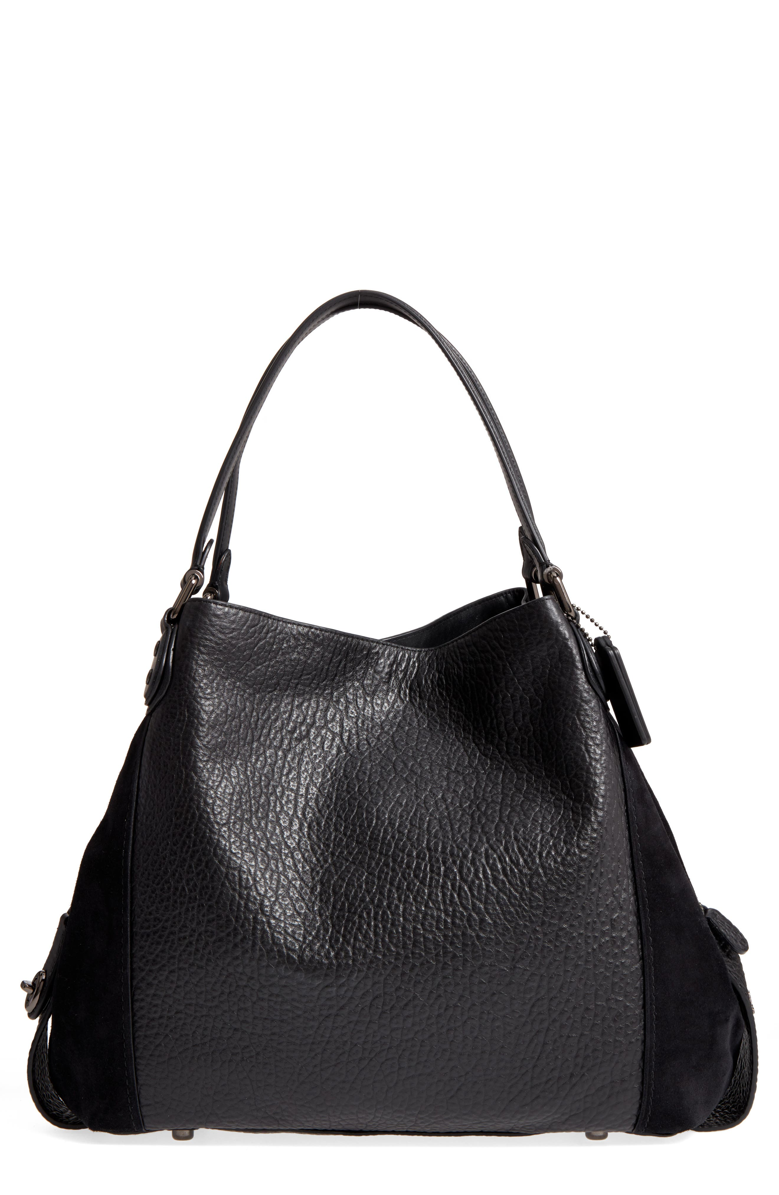 COACH Edie 42 Leather & Suede Shoulder Bag